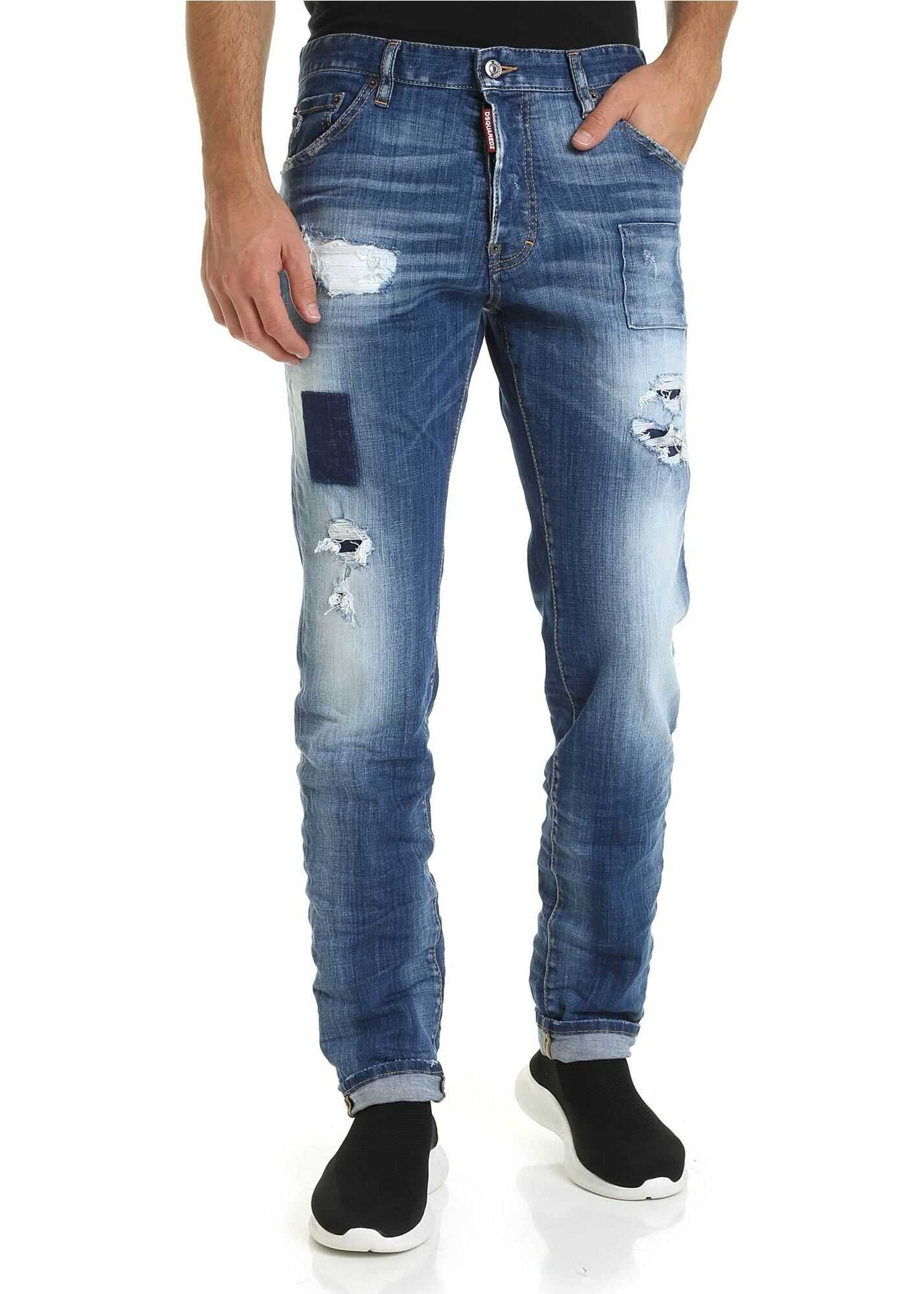 DSQUARED2 Cool Guy Jeans In Blue Color Blue