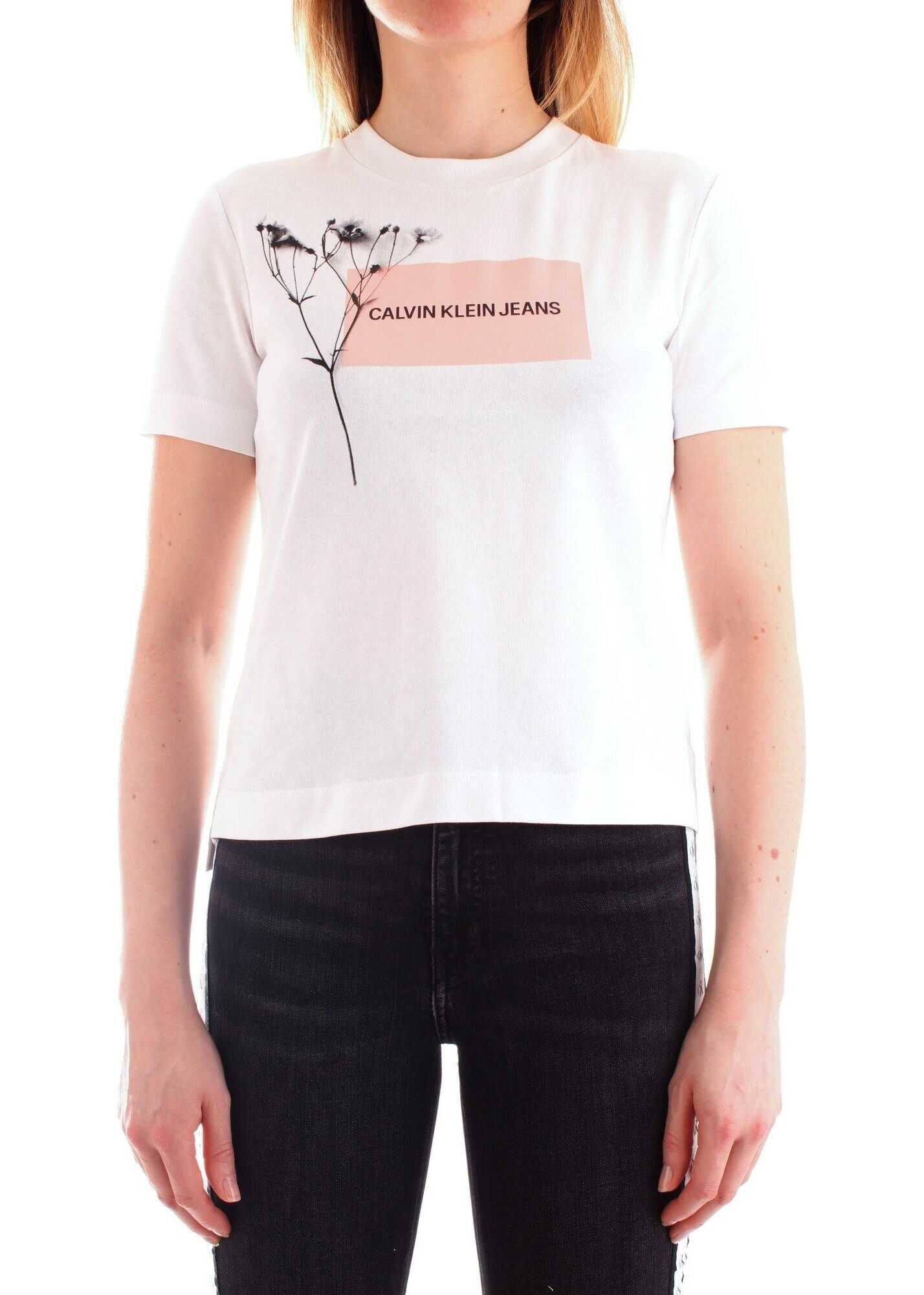 Calvin Klein Jeans Cotton T-Shirt WHITE
