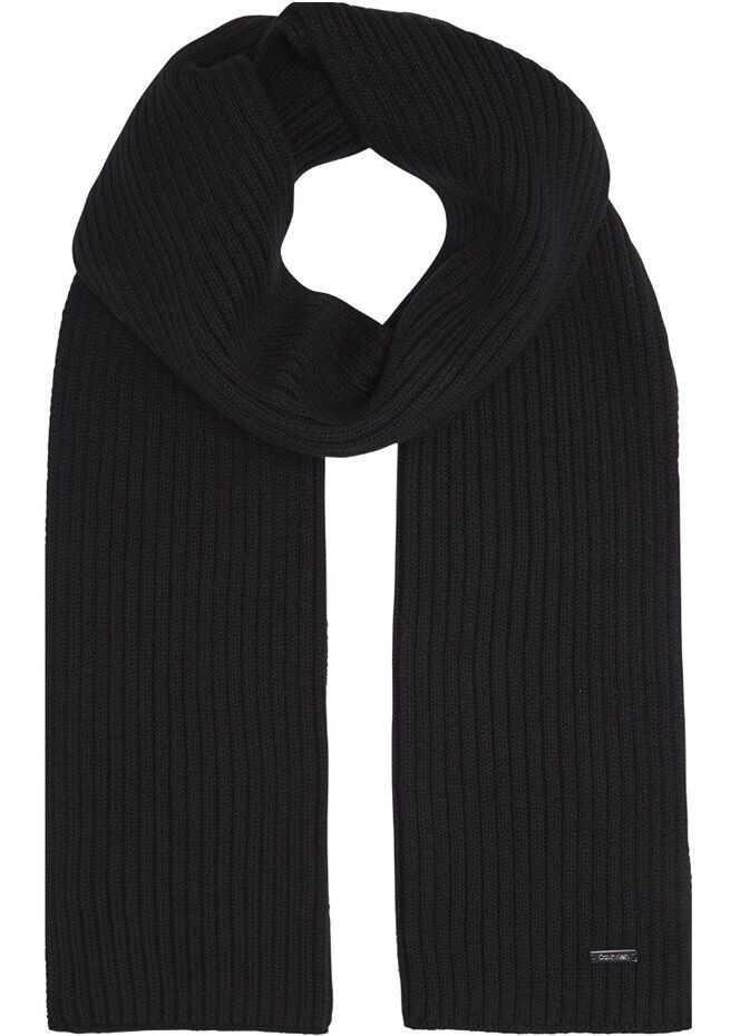 Calvin Klein Cotton Scarf BLACK