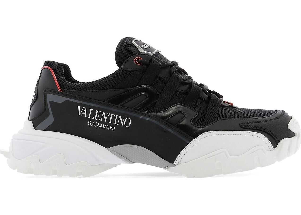 Valentino Garavani Leather Sneakers BLACK