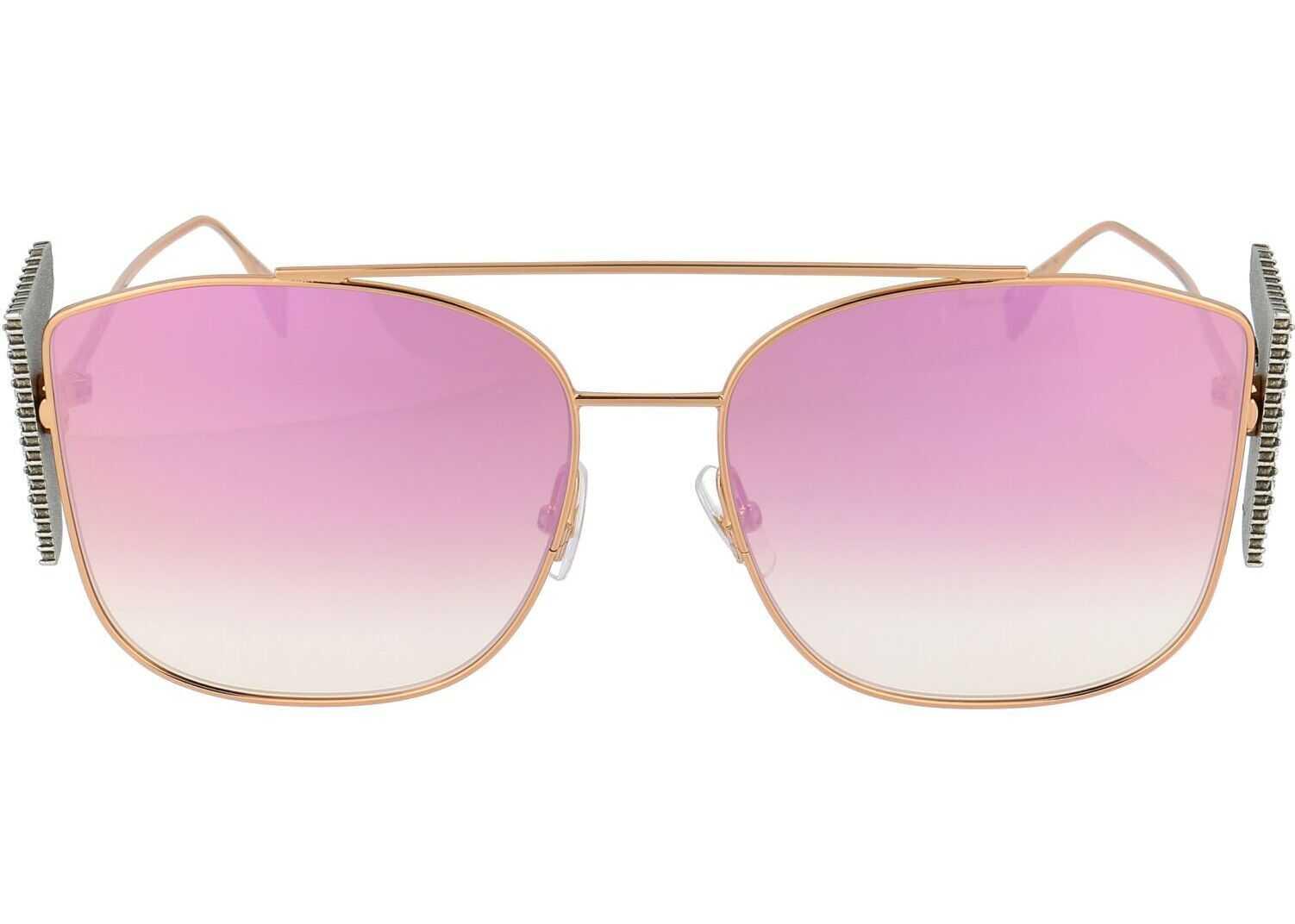Fendi Metal Sunglasses GOLD