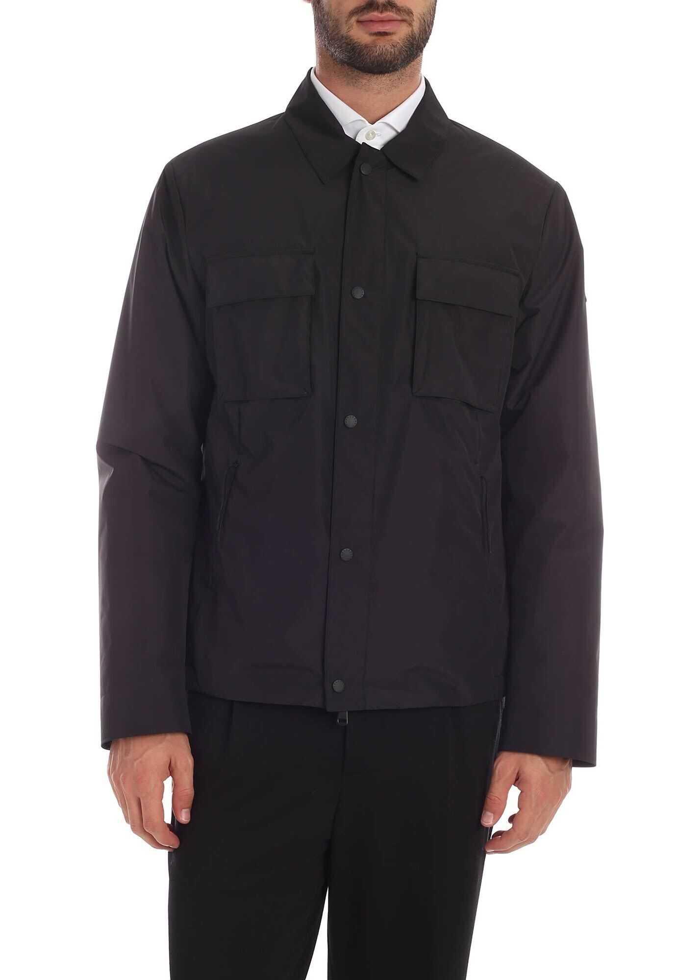 Paul&Shark Technical Fabric Jacket In Black Black