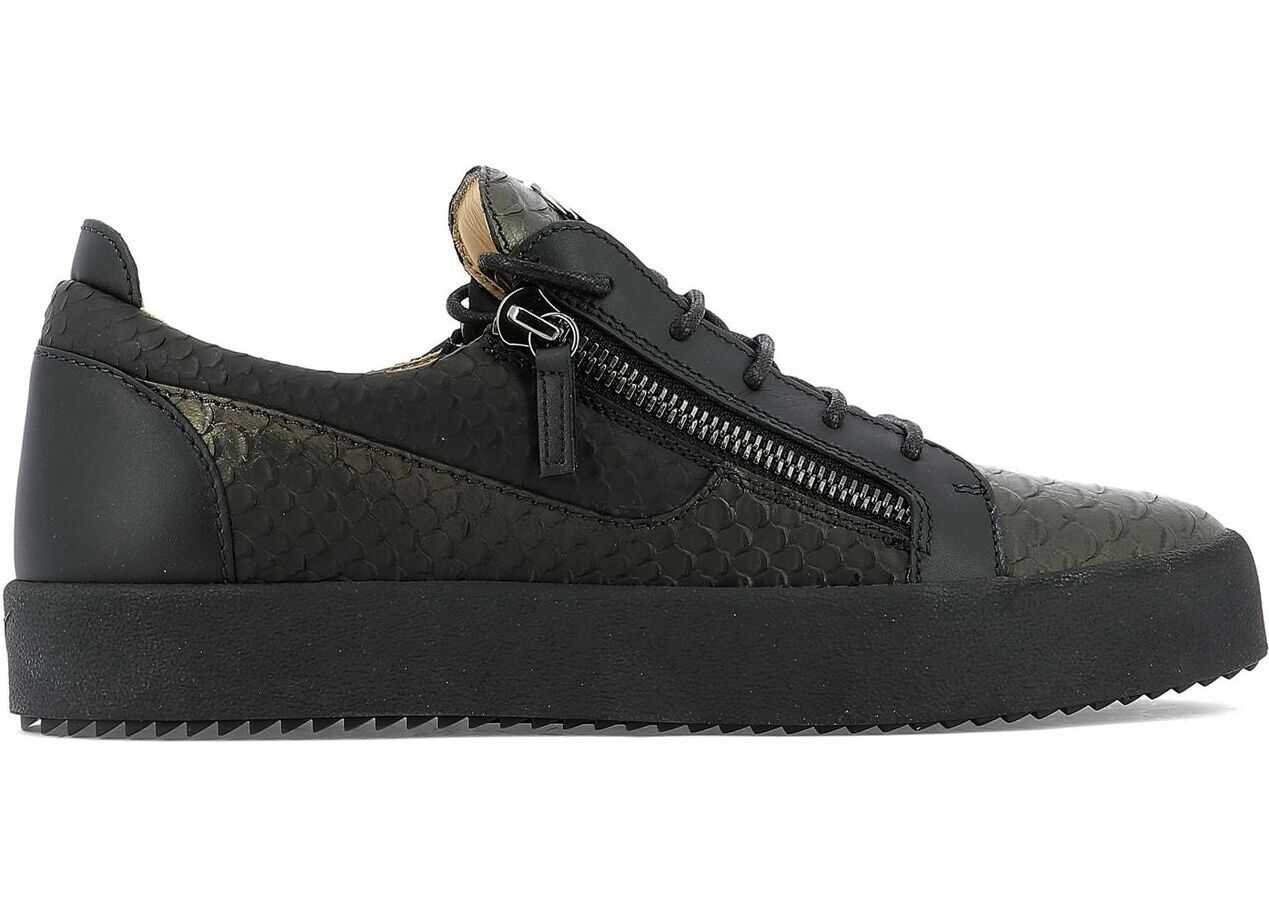 Giuseppe Zanotti Leather Sneakers BLACK