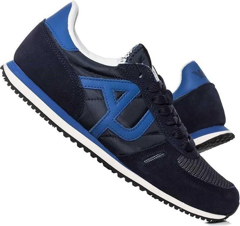 Armani Sneaker Low Cut 9350277P42036435 NEGRE/ALBASTRE
