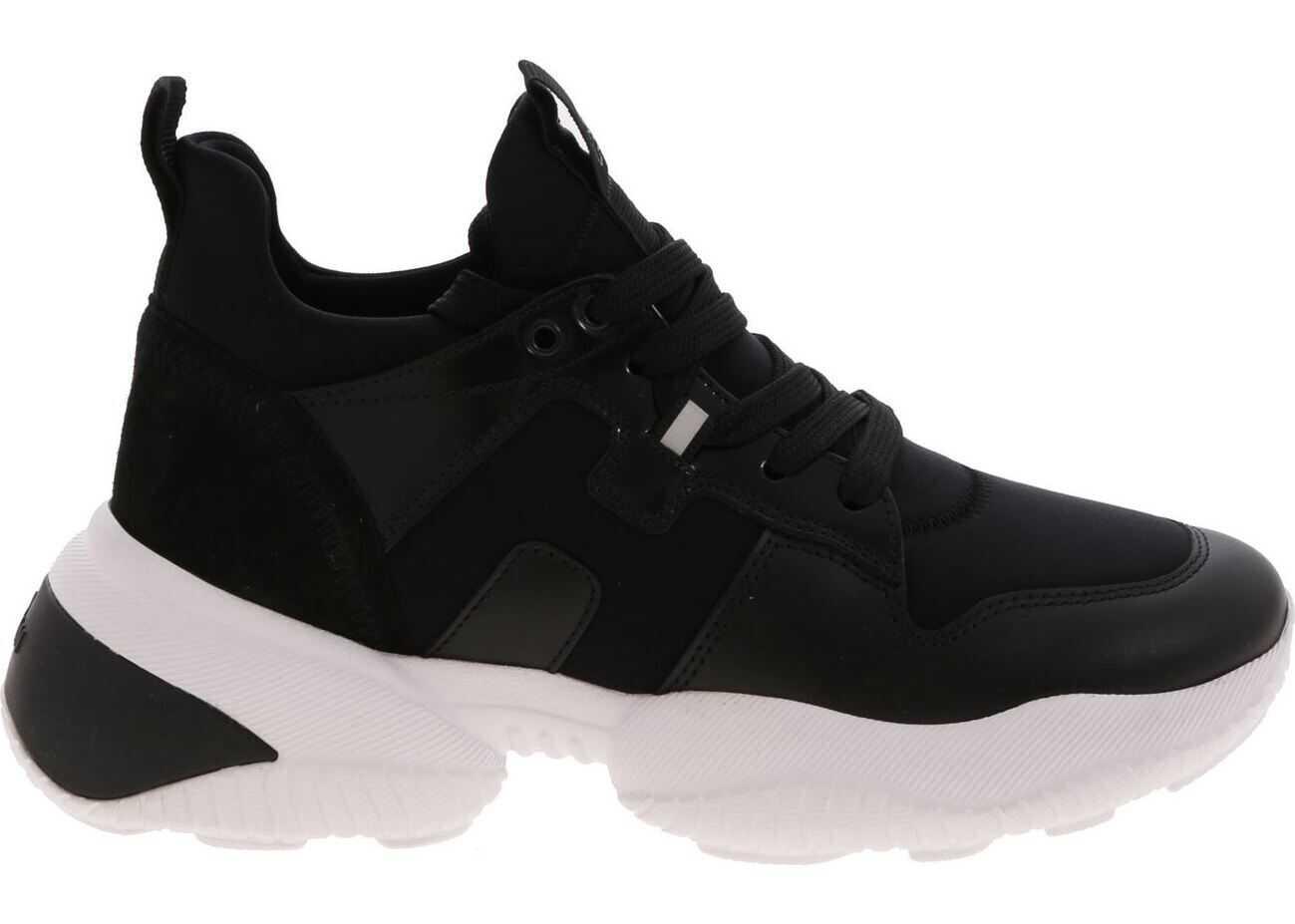 Hogan H487 Sneakers In Black Black