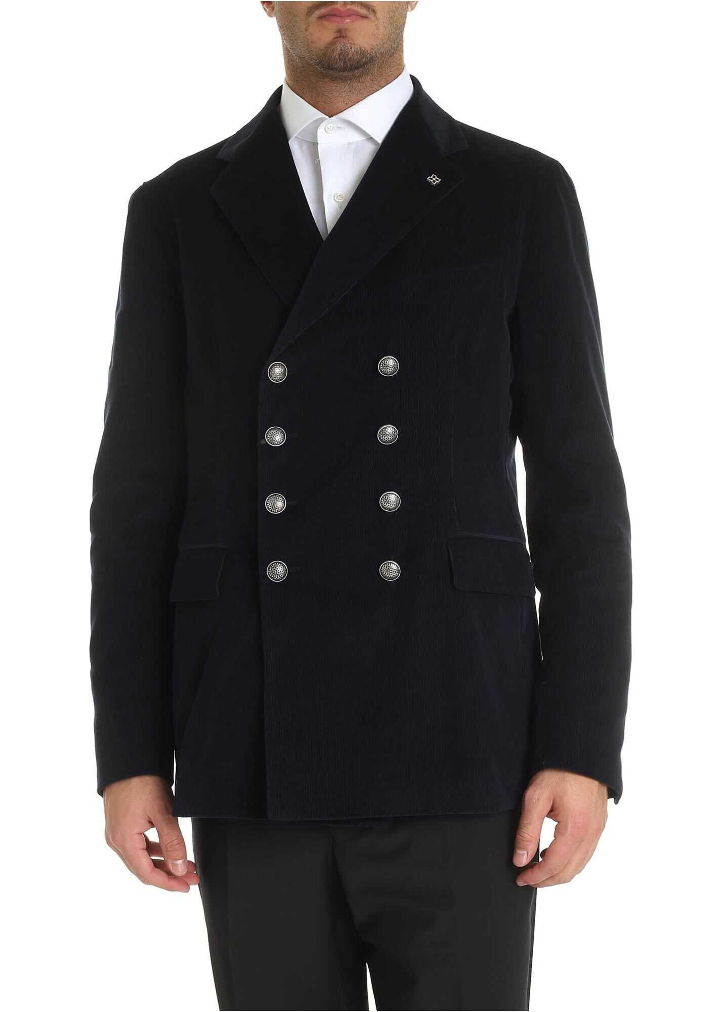 Barrie Jacket In Blue Corduroy thumbnail