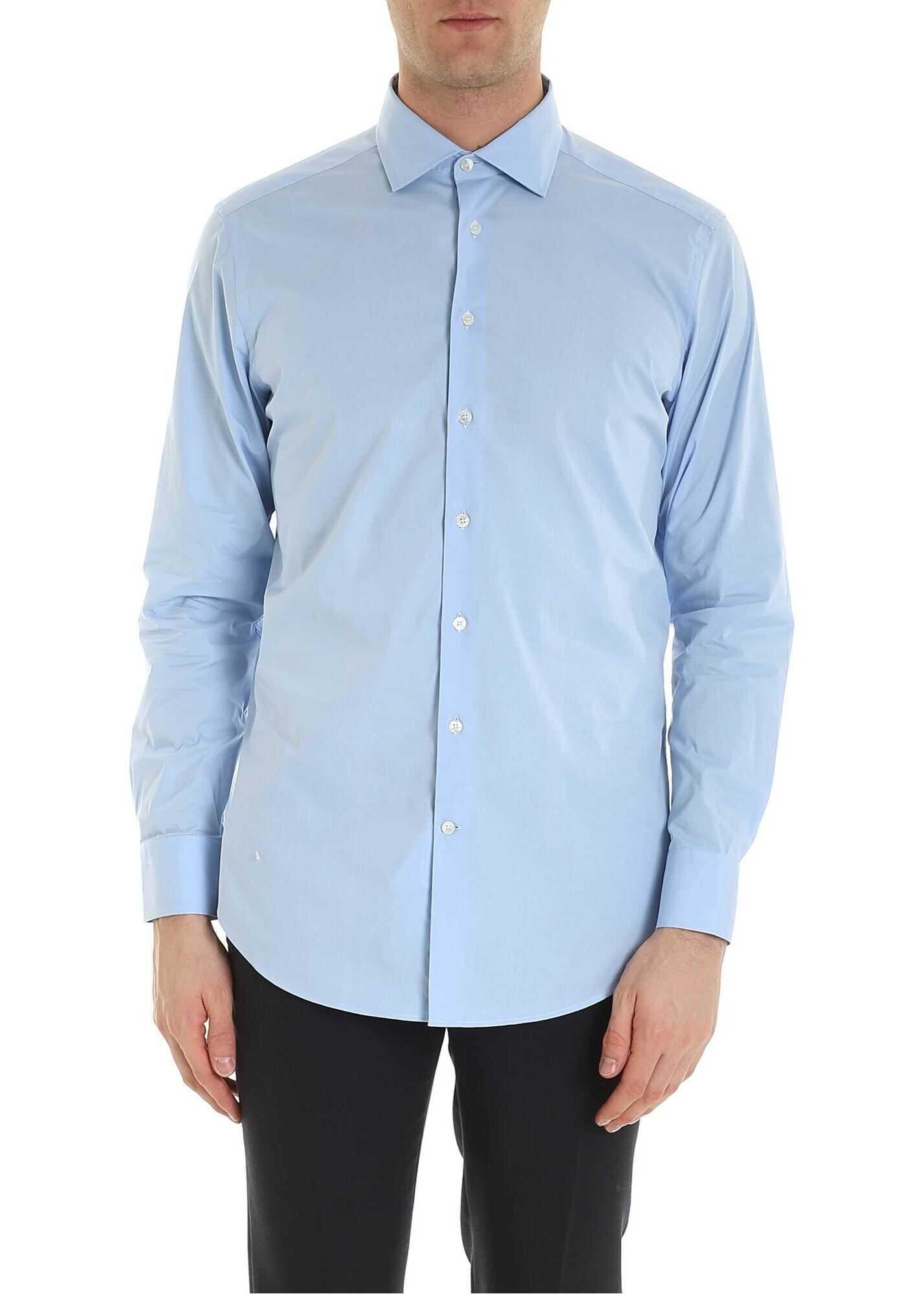 ETRO Light Blue Poplin Shirt thumbnail