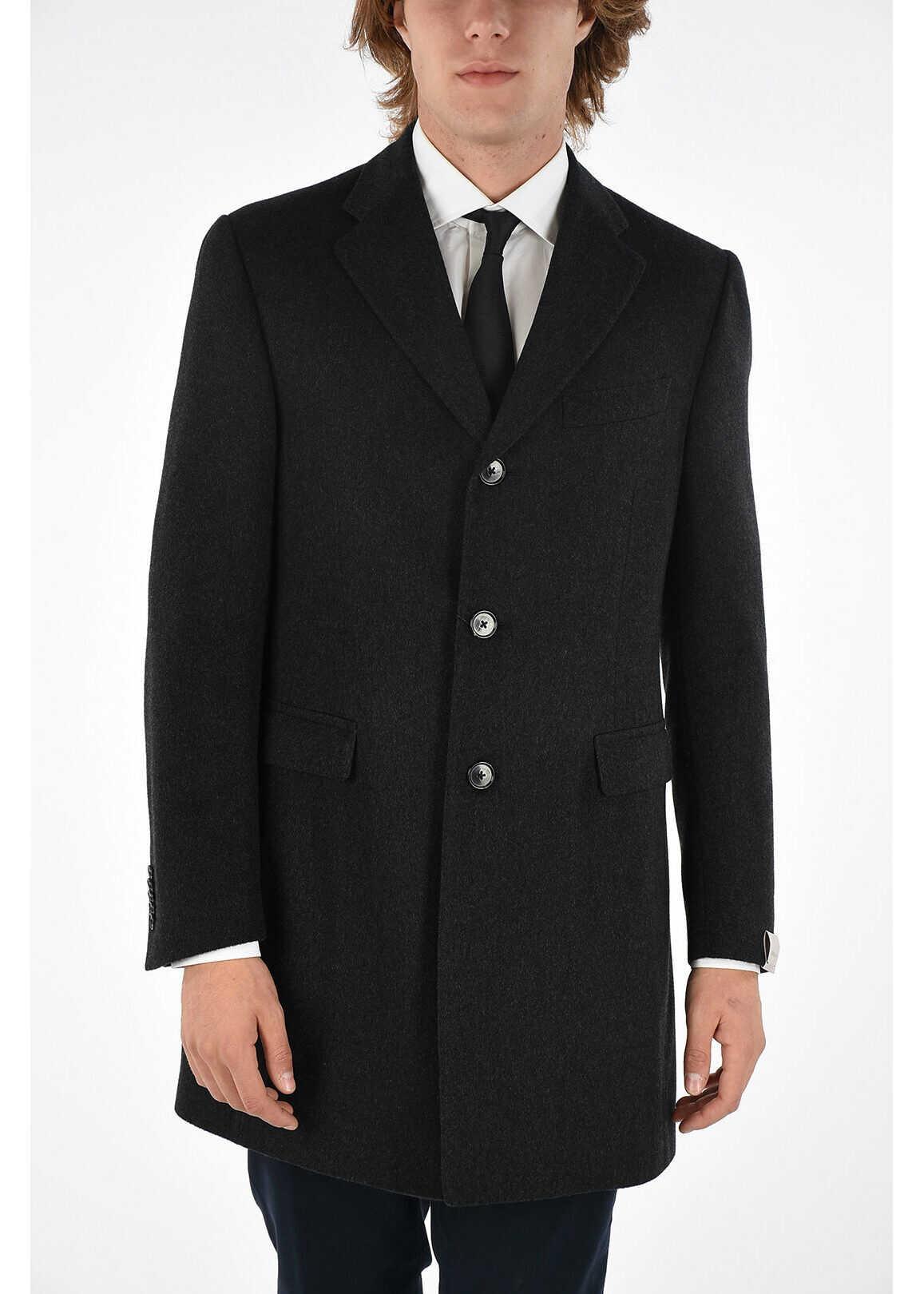 CORNELIANI 3 Button chesterfield coat GRAY