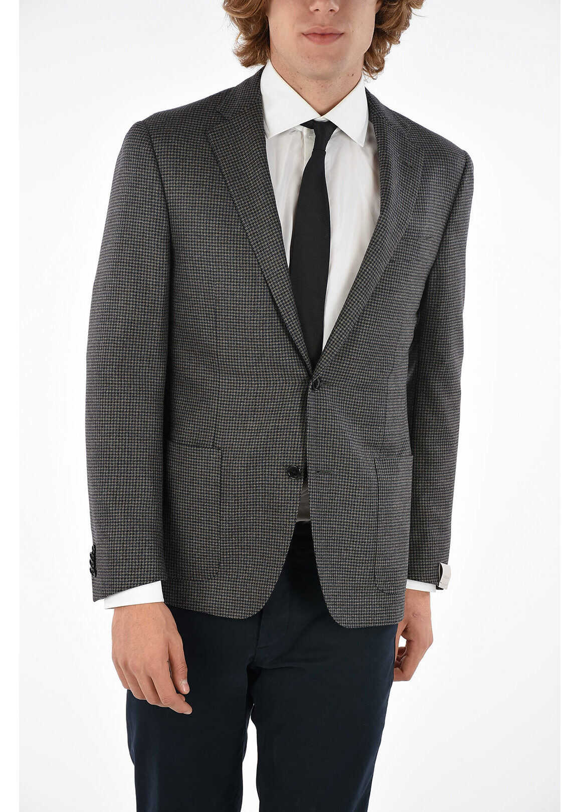 CORNELIANI houndstooth GATE 2-button jacket with side vents BEIGE imagine