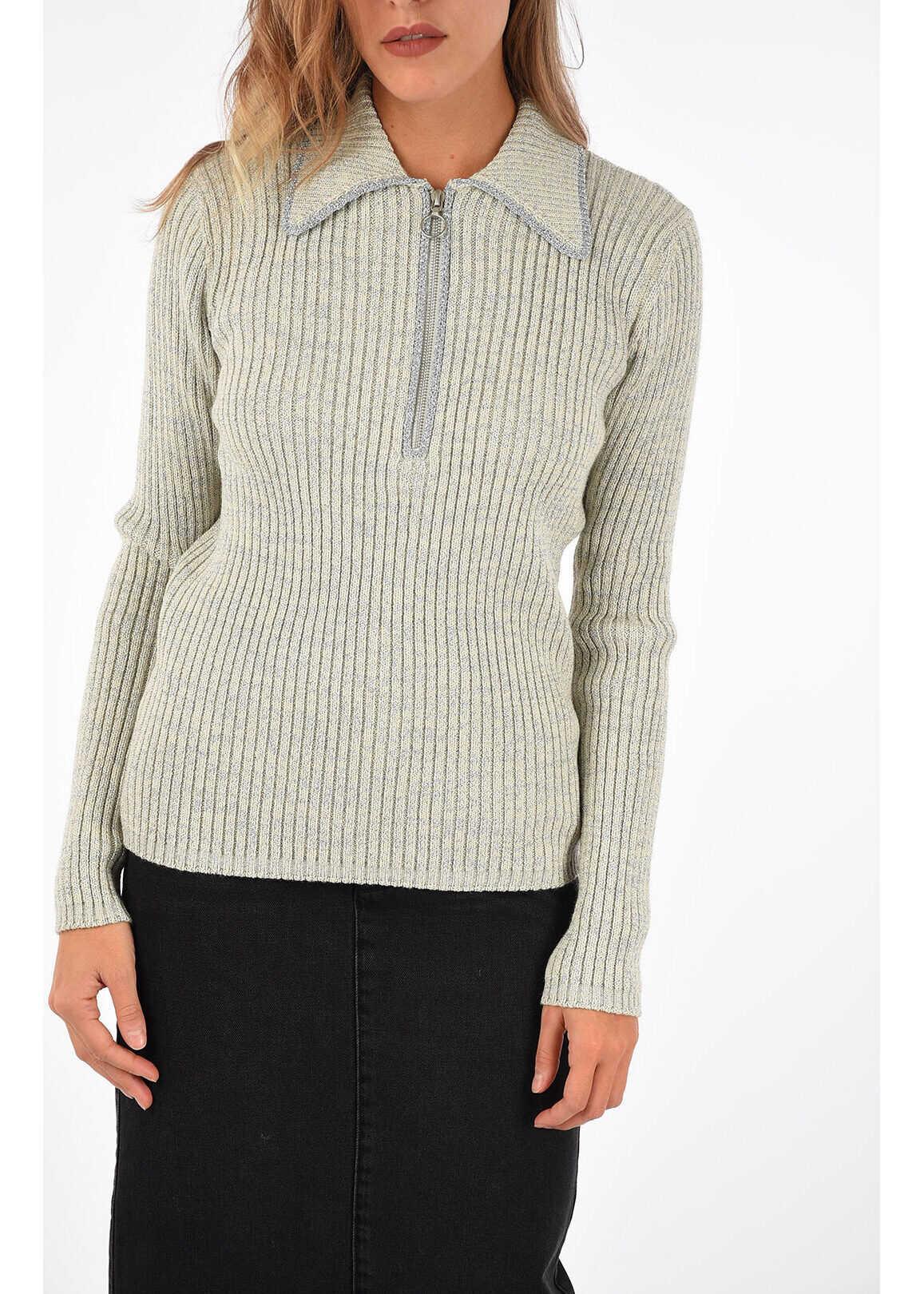 Dries Van Noten Glitter Sweater MATCH BEIGE