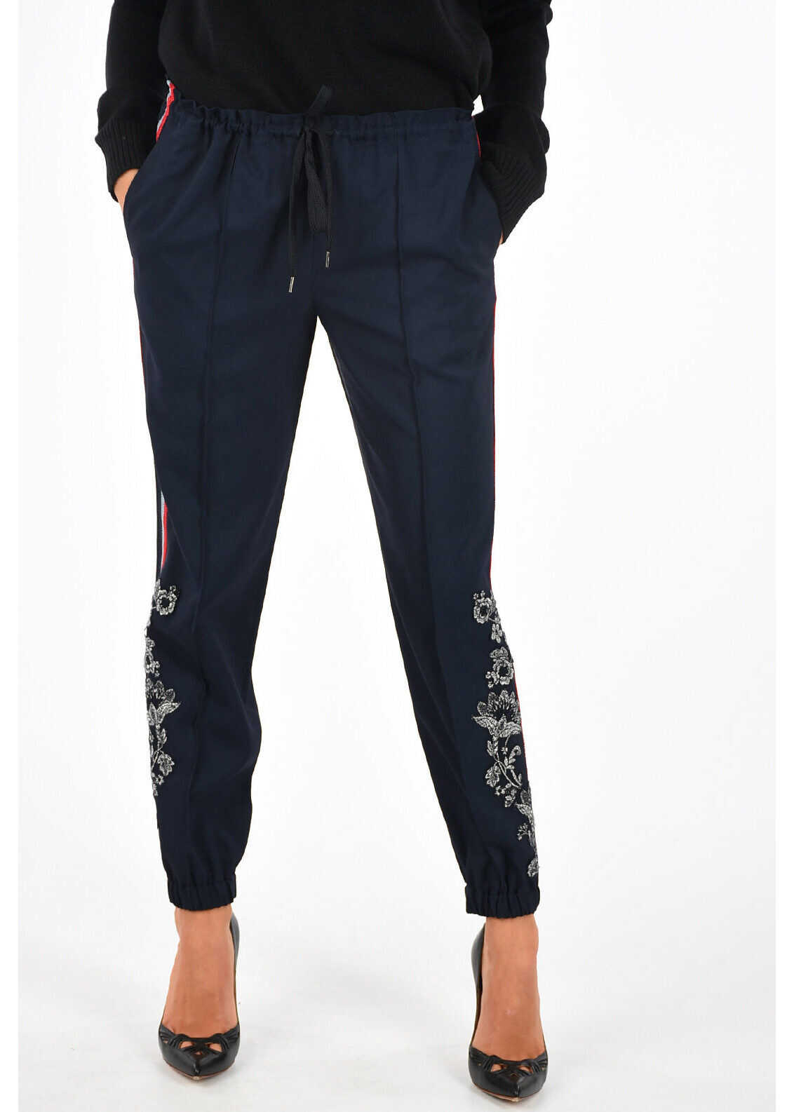 Ermanno Scervino Embroidered Pants MIDNIGHT BLUE