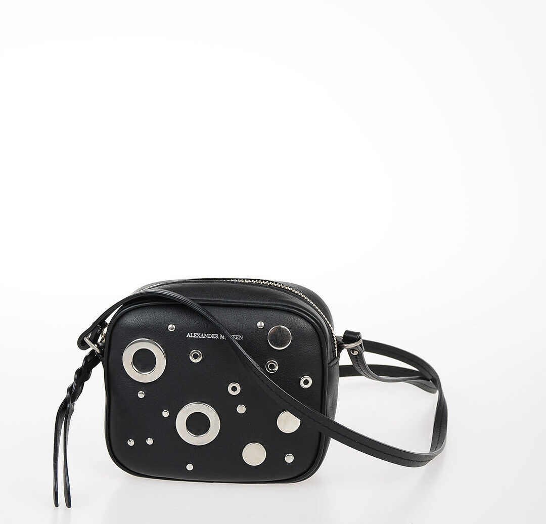 Studded Leather Mini Shoulder Bag thumbnail