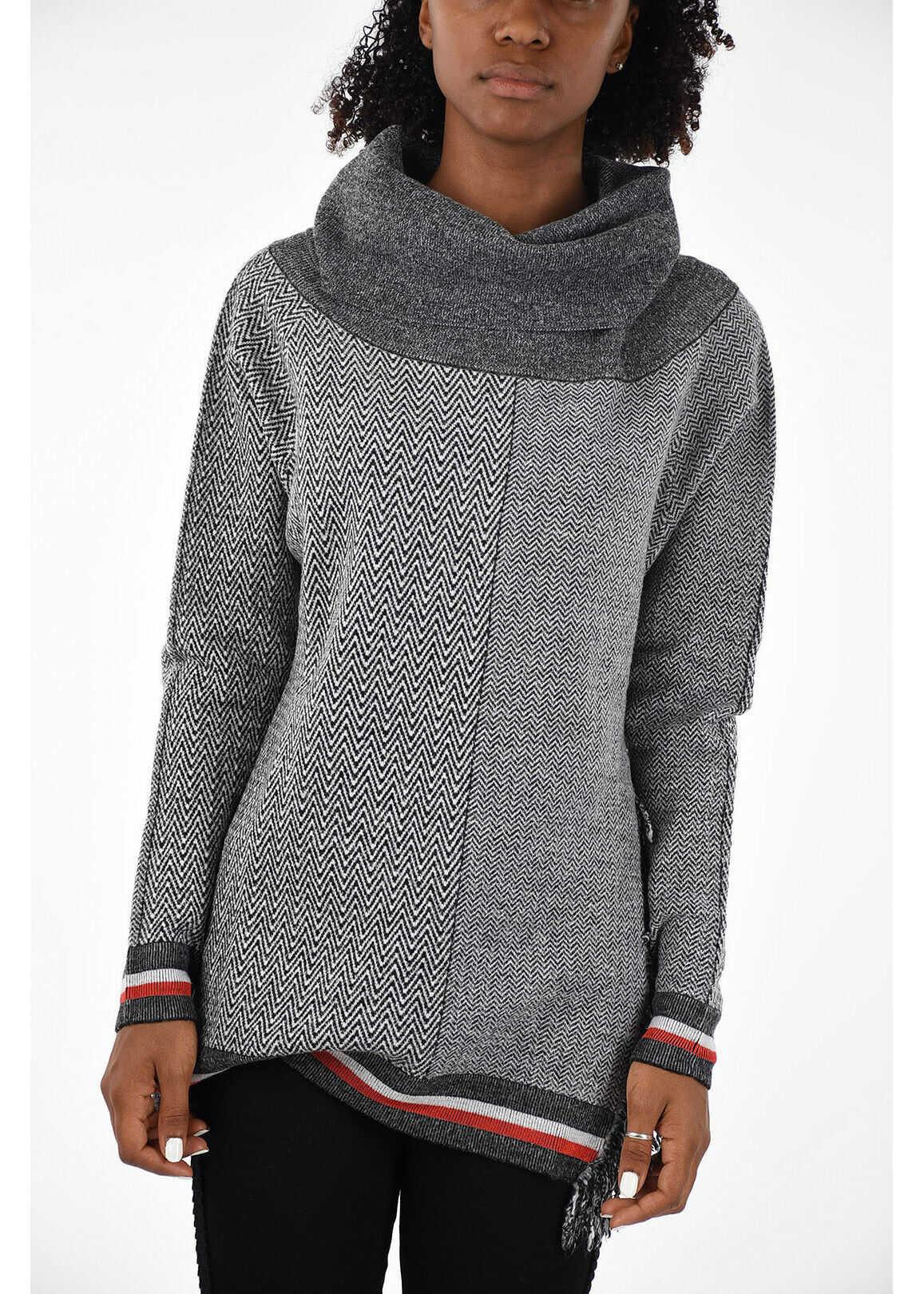 adidas by Stella McCartney Fringed Sweater GRAY