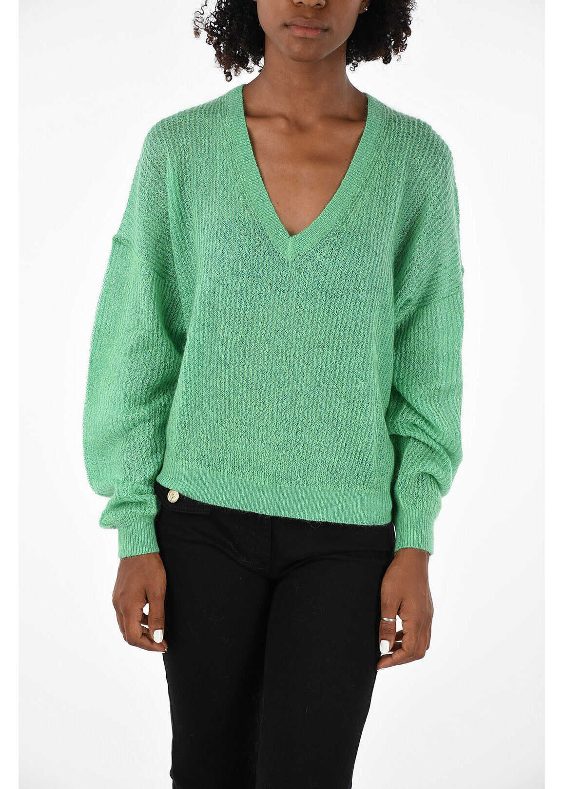 Burberry ribbed Pullover GREEN