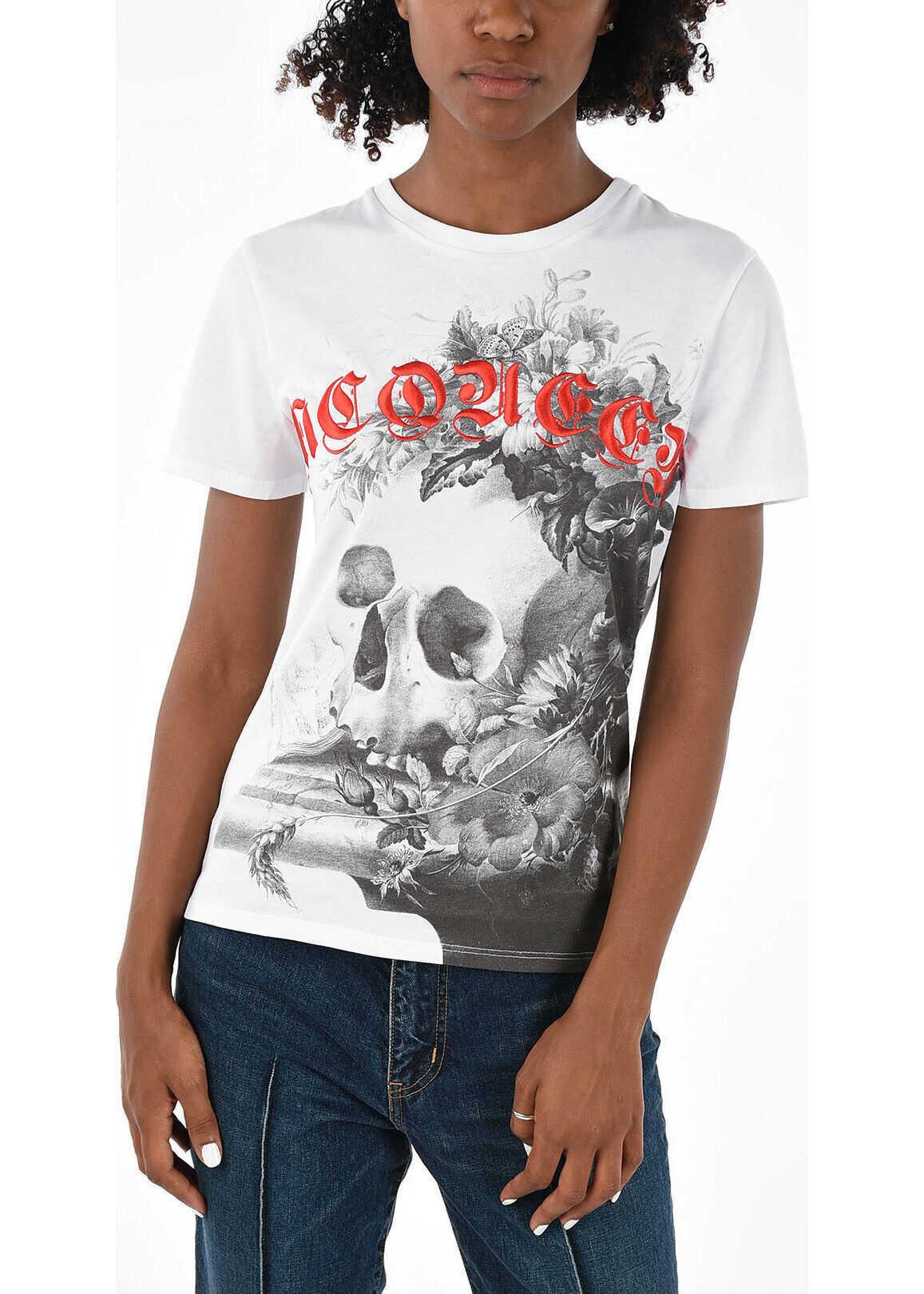 Alexander McQueen Embroidered T-shirt WHITE