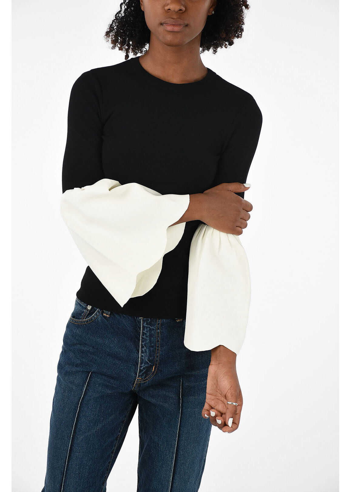 Flare Sleeve Knitted Top