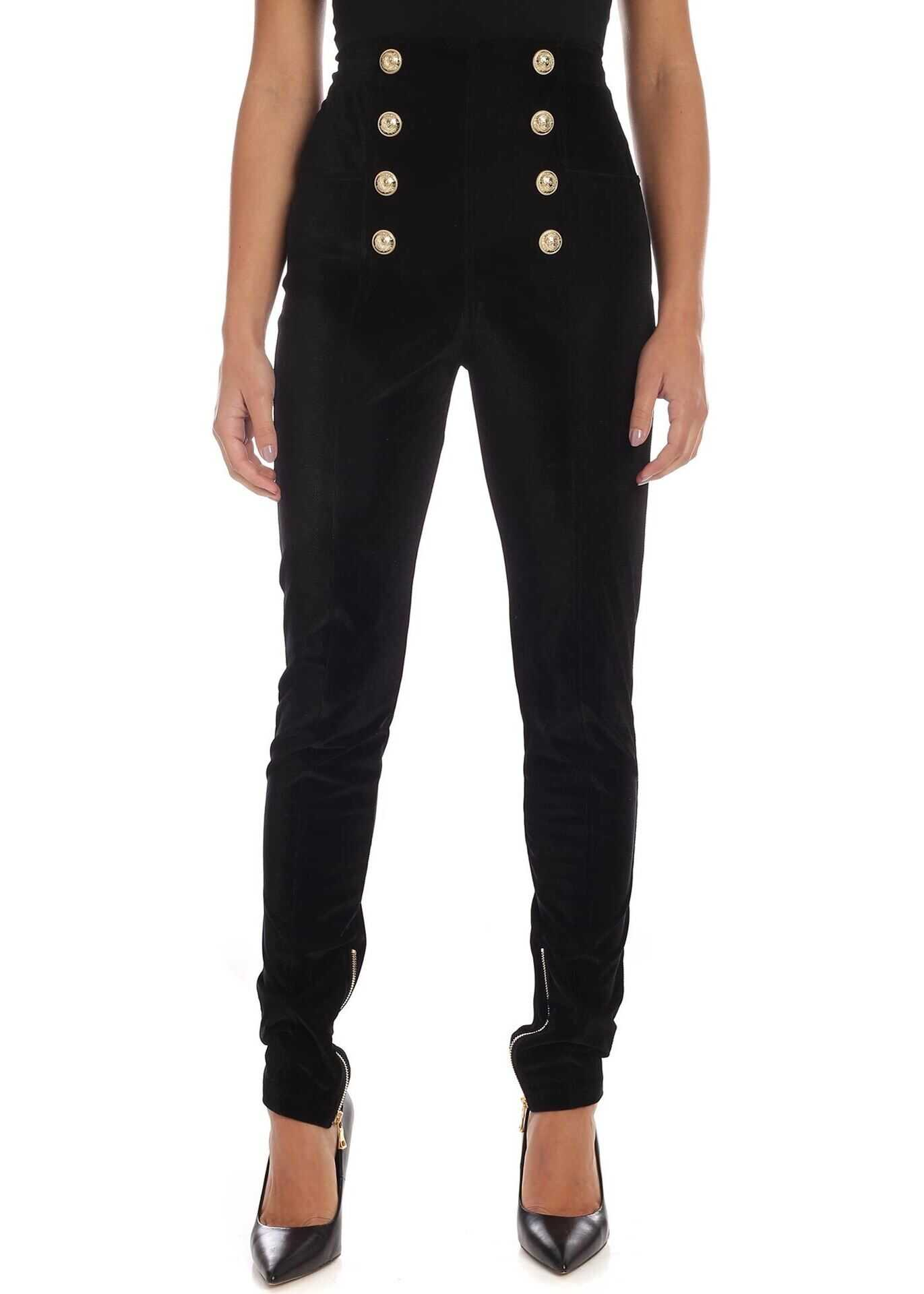 8-Buttons Skinny Pants In Black thumbnail