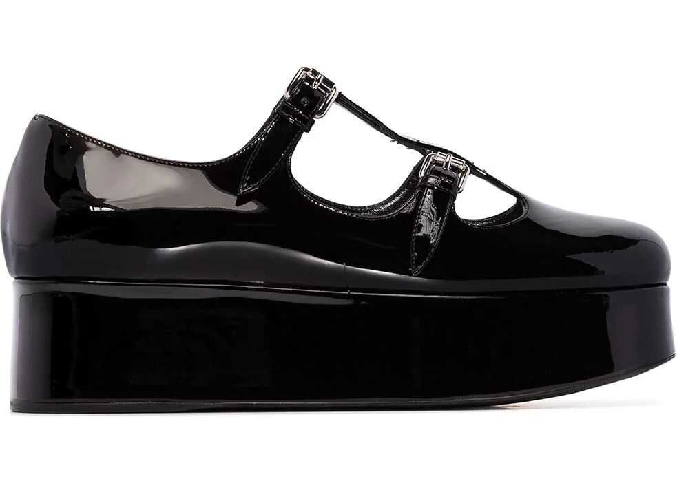 Miu Miu Leather Flats BLACK