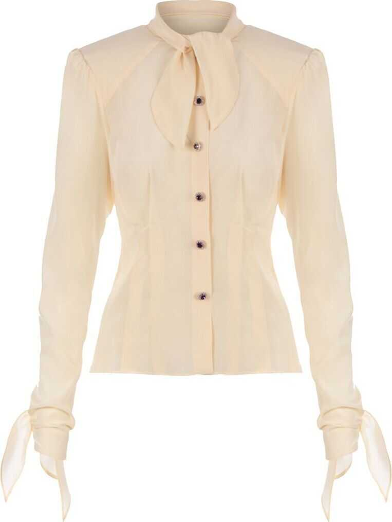 Dolce & Gabbana Silk Shirt BEIGE