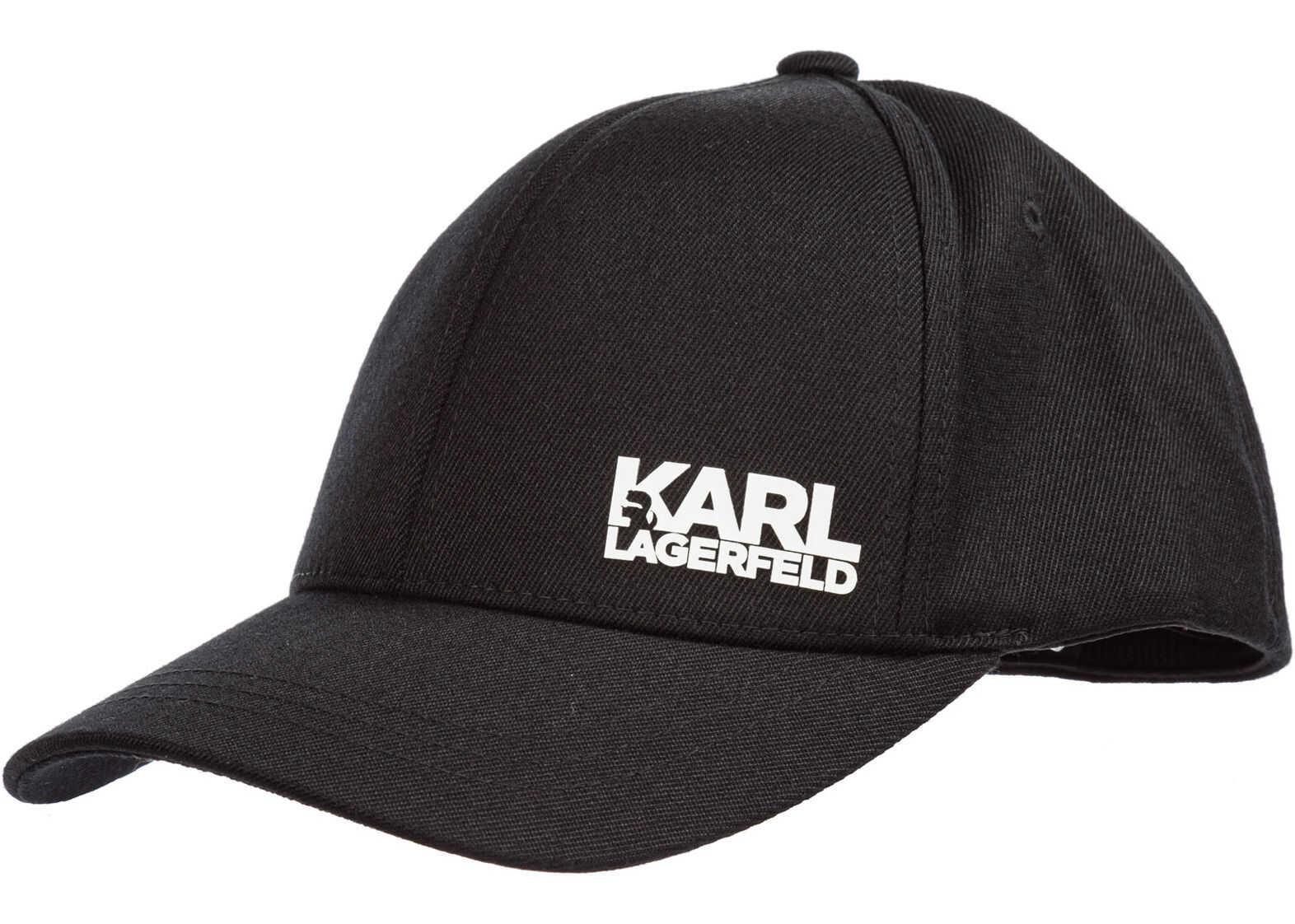 Karl Lagerfeld Baseball Cap Black