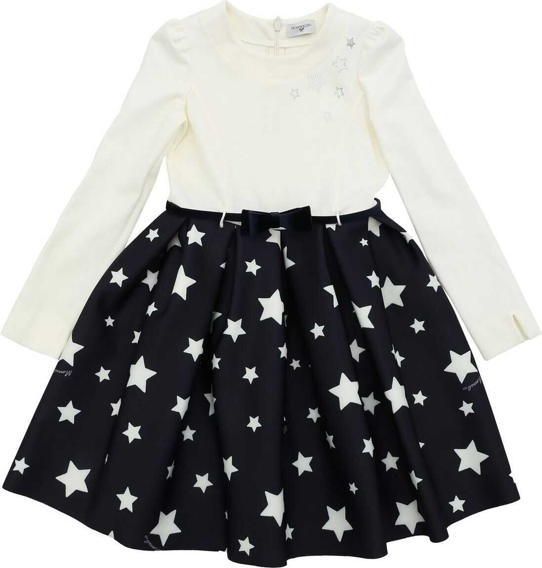 Blue And White Dress With Star Print Skirt thumbnail