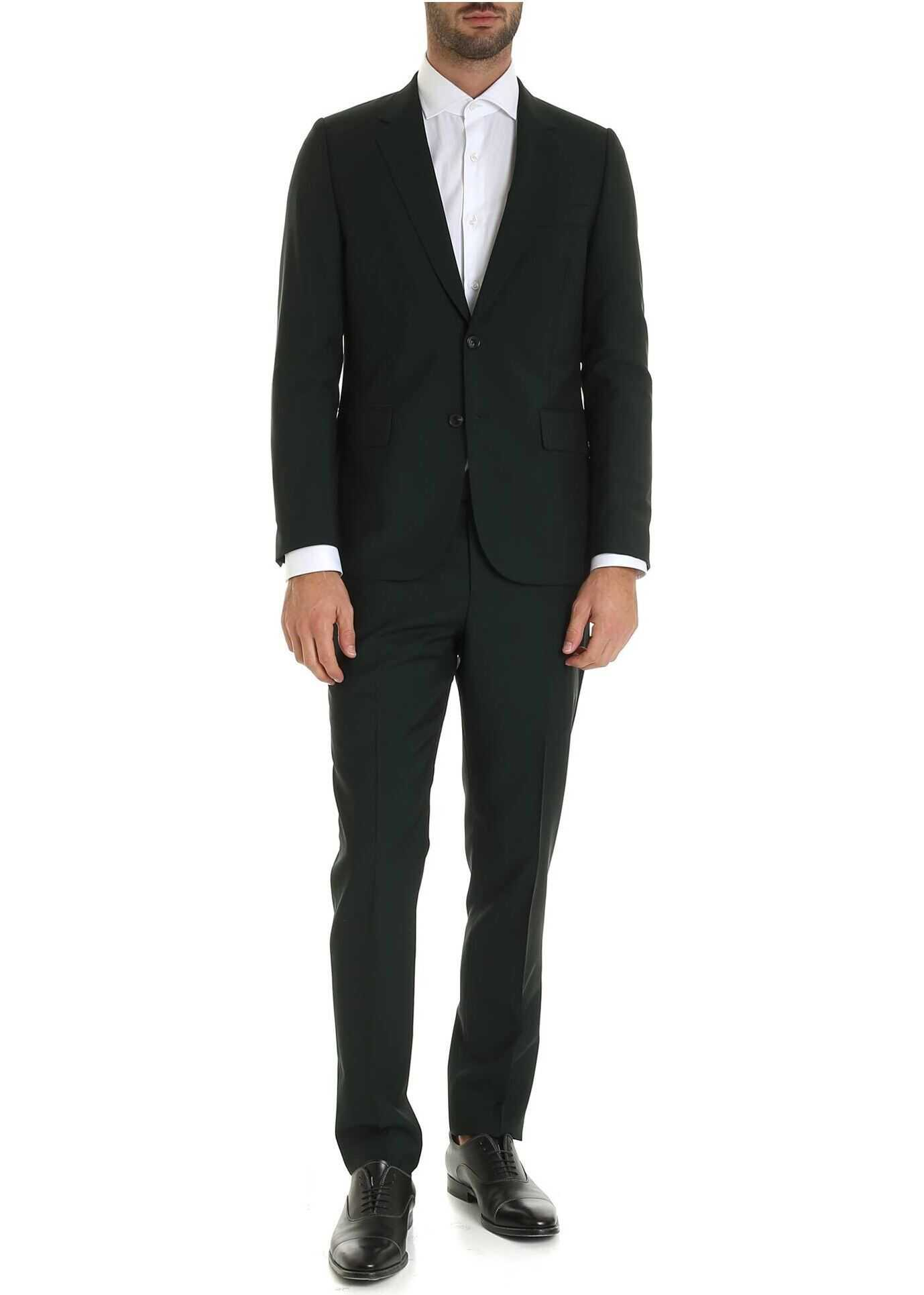 Two Button Suit In Green thumbnail