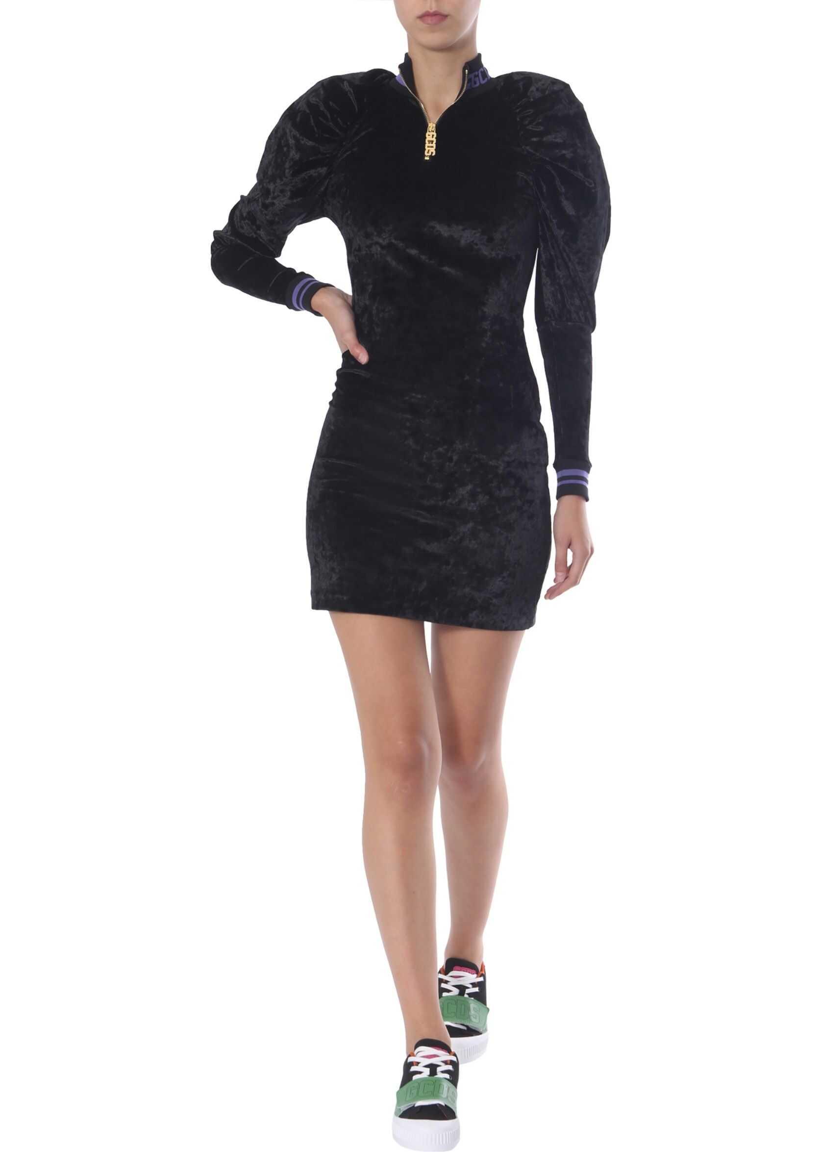 Velvet Dress With Logo thumbnail