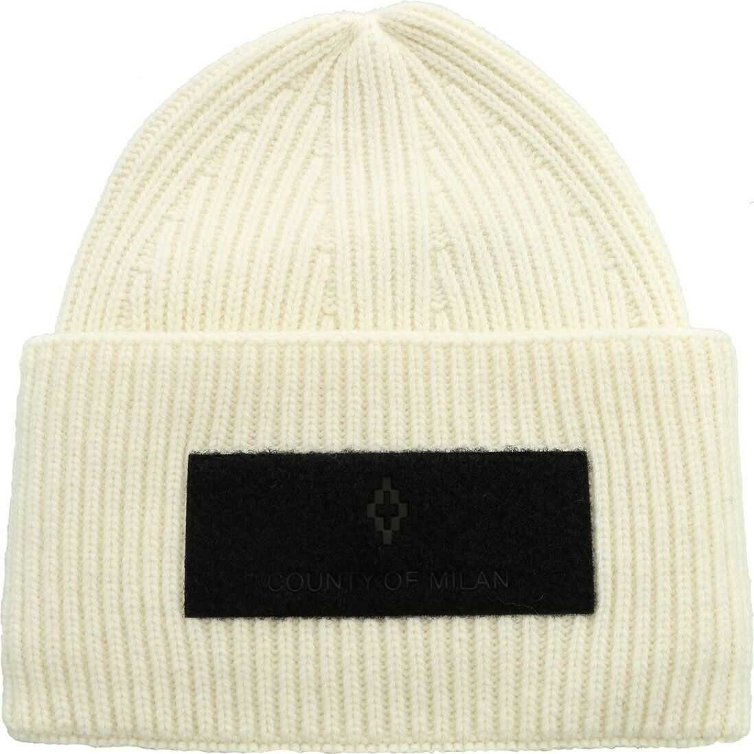 Patch Wings Beanie In Ivory Color thumbnail