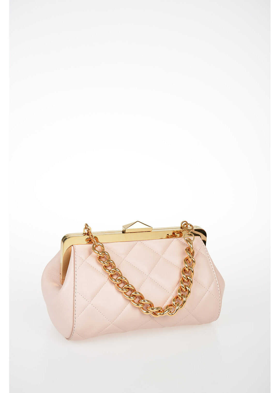 Alexander McQueen Quilted Leather Shoulder Bag PINK