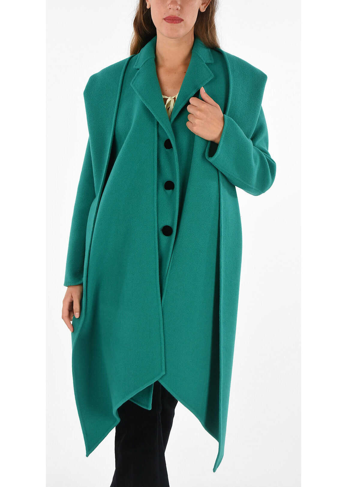 Marc Jacobs Detachable Hood Coat GREEN