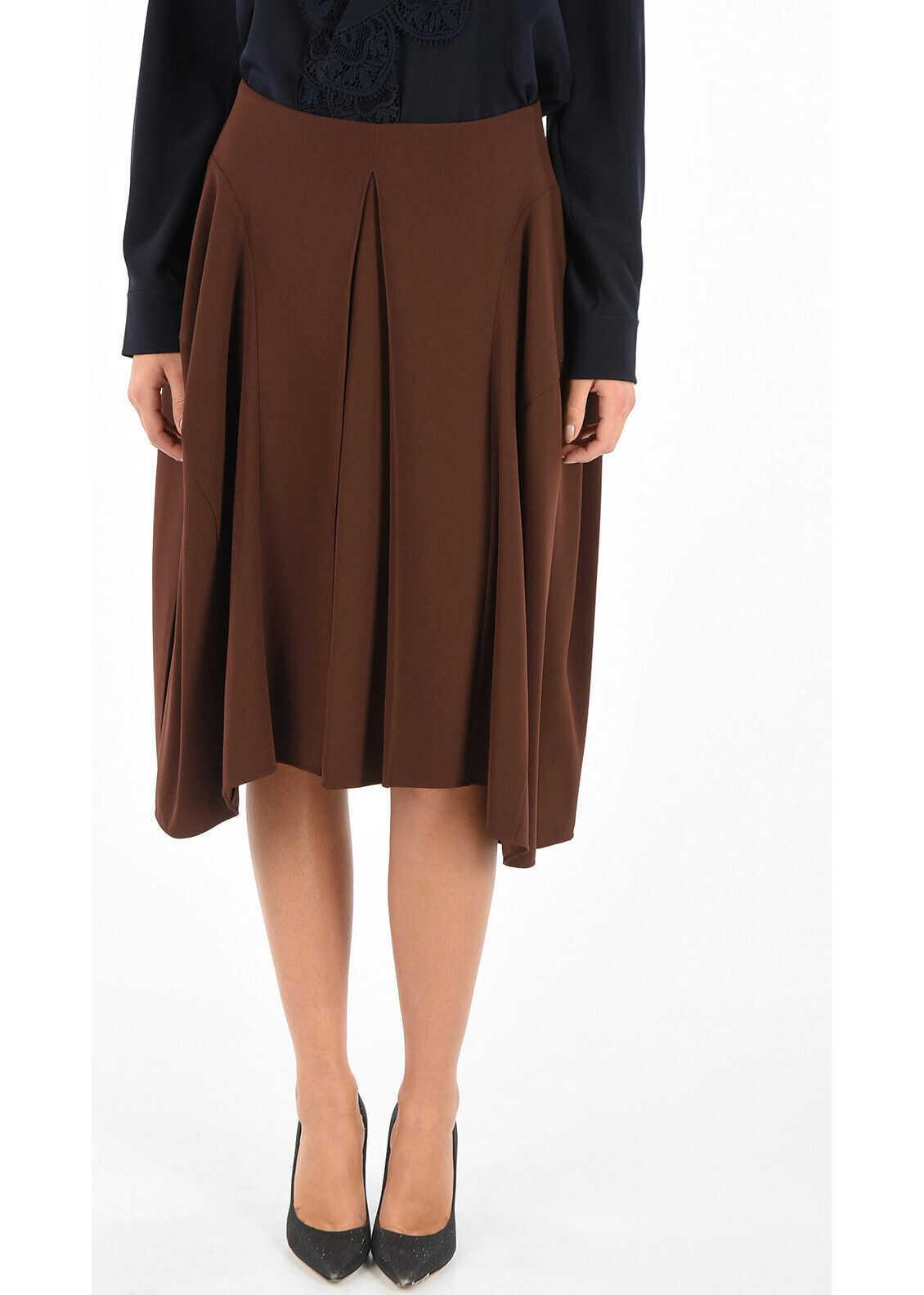 Asymmetrical Cut Flared Skirt thumbnail