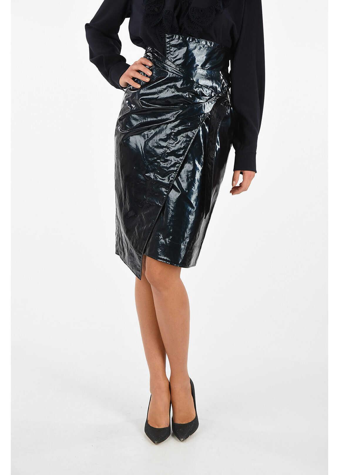 Isabel Marant Wrap EOJI Skirt BLUE