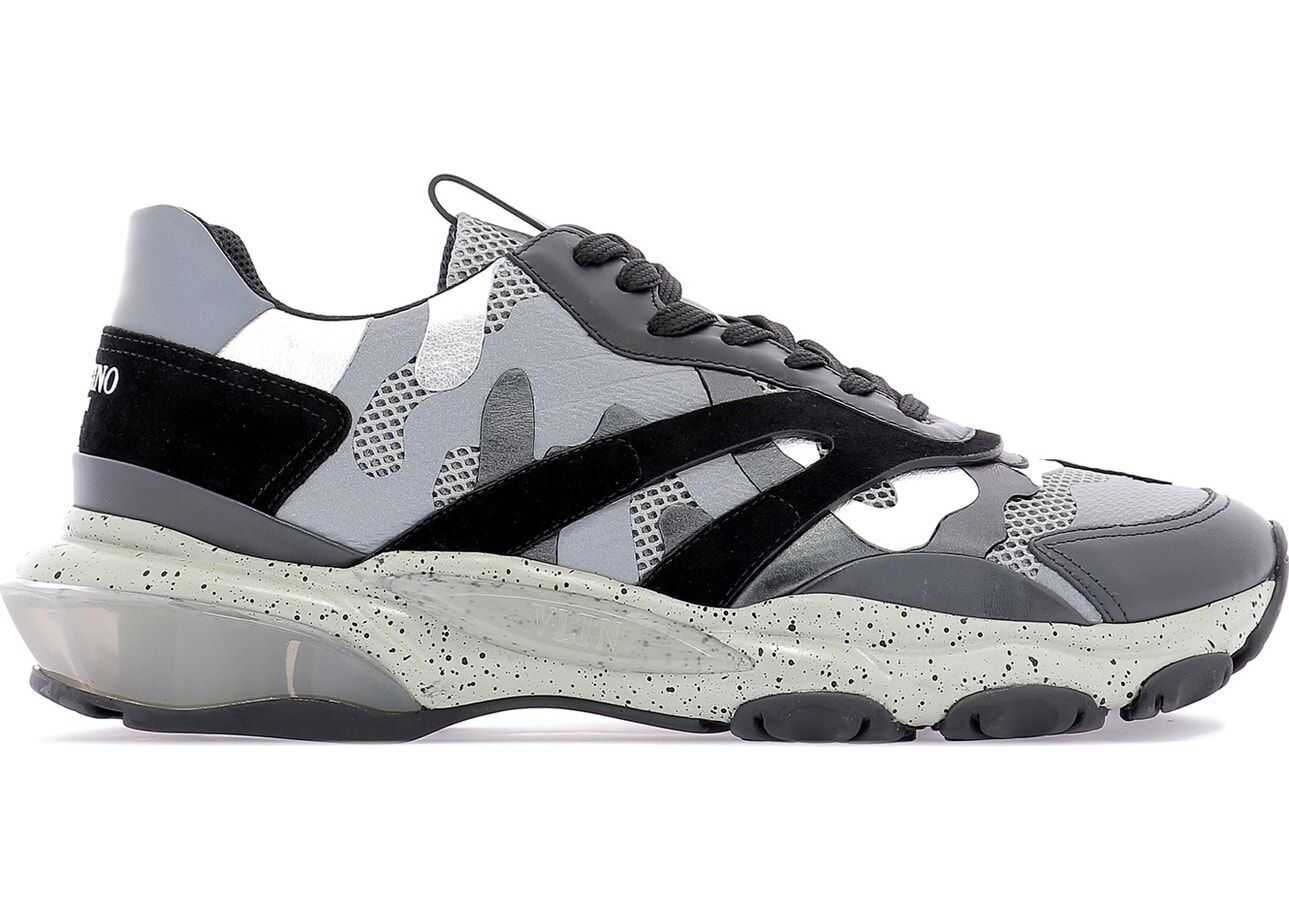 Valentino Garavani Leather Sneakers GREY