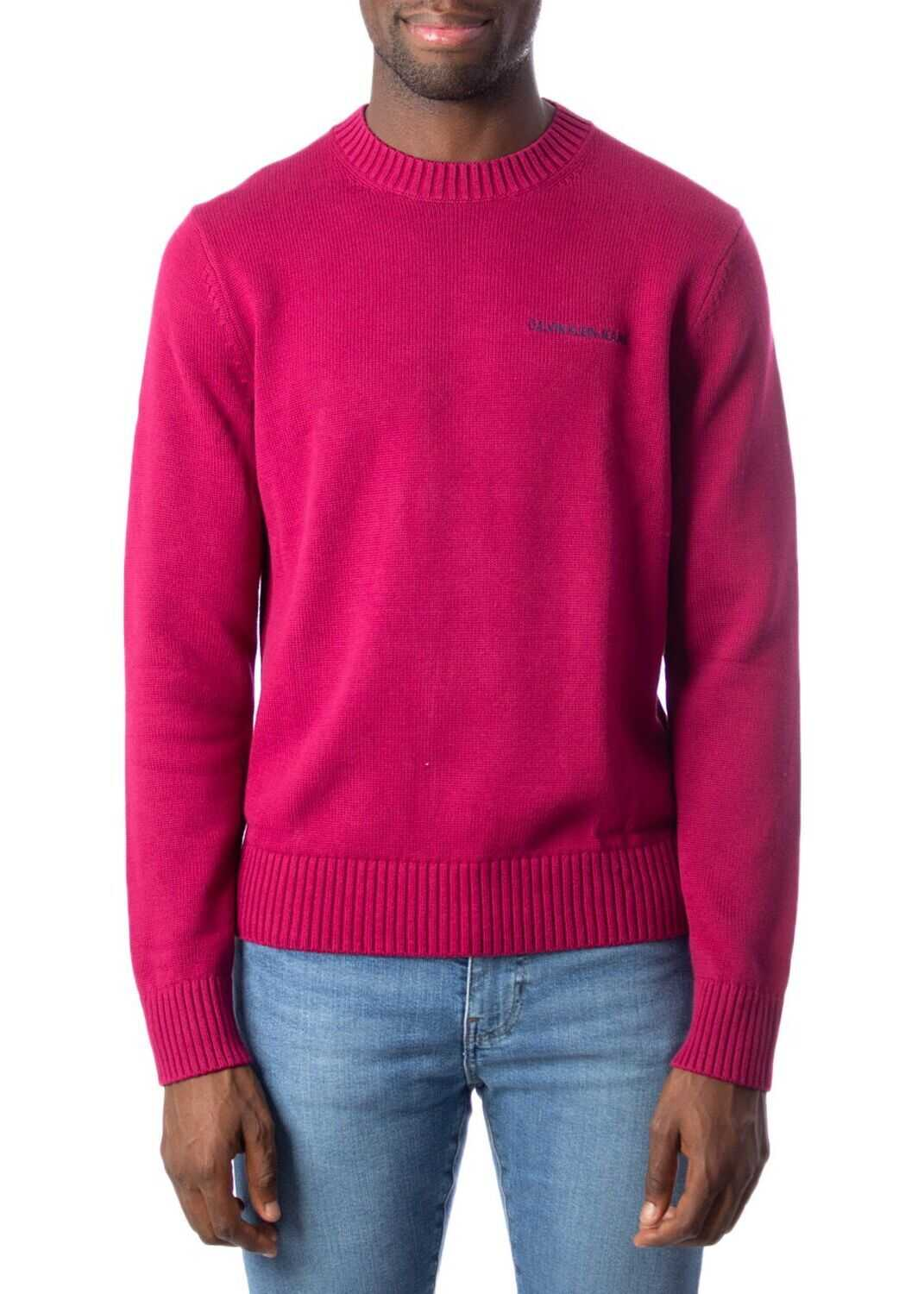 Calvin Klein Jeans Cotton Sweater RED