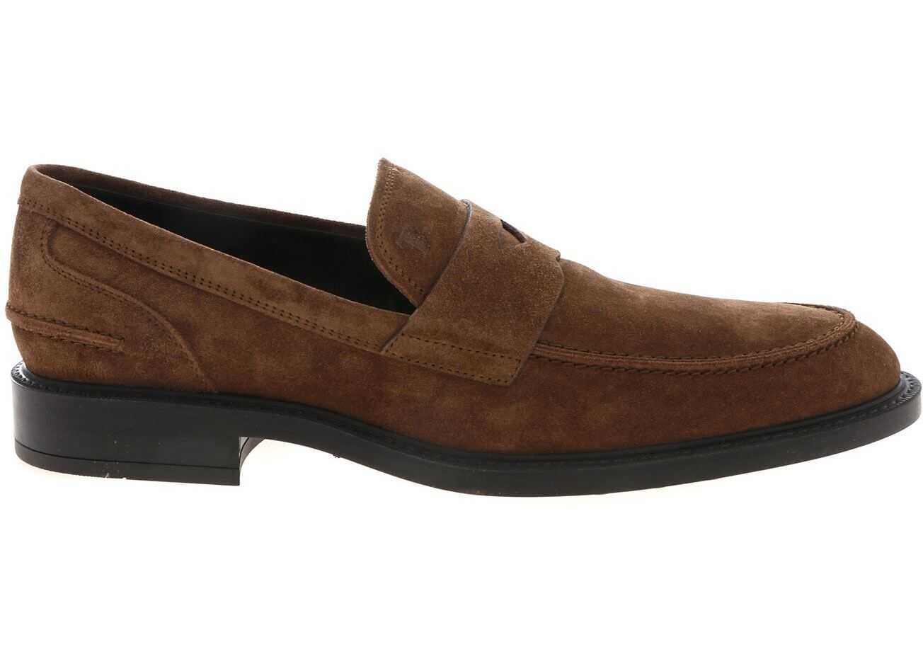 Suede Loafers In Beige thumbnail