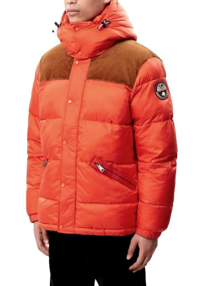 Napapijri Polyamide Down Jacket ORANGE