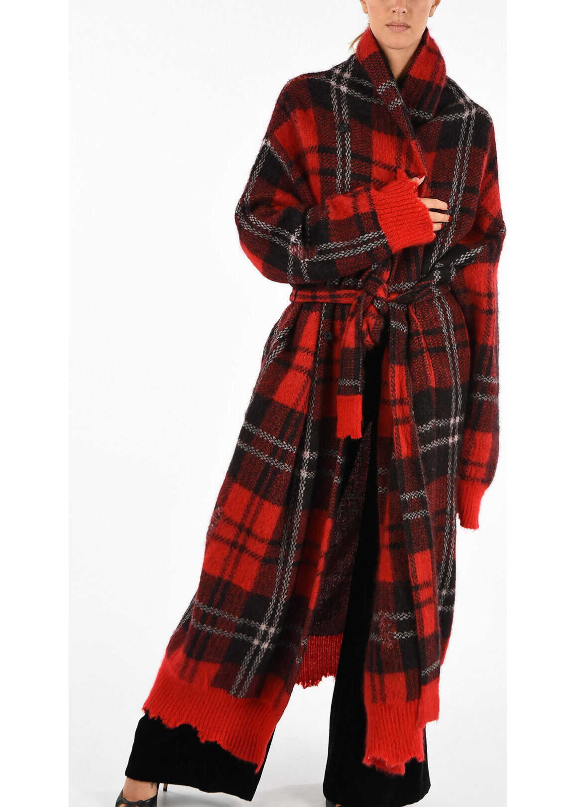 Alexander McQueen Checked Vintage Effect Coat MULTICOLOR