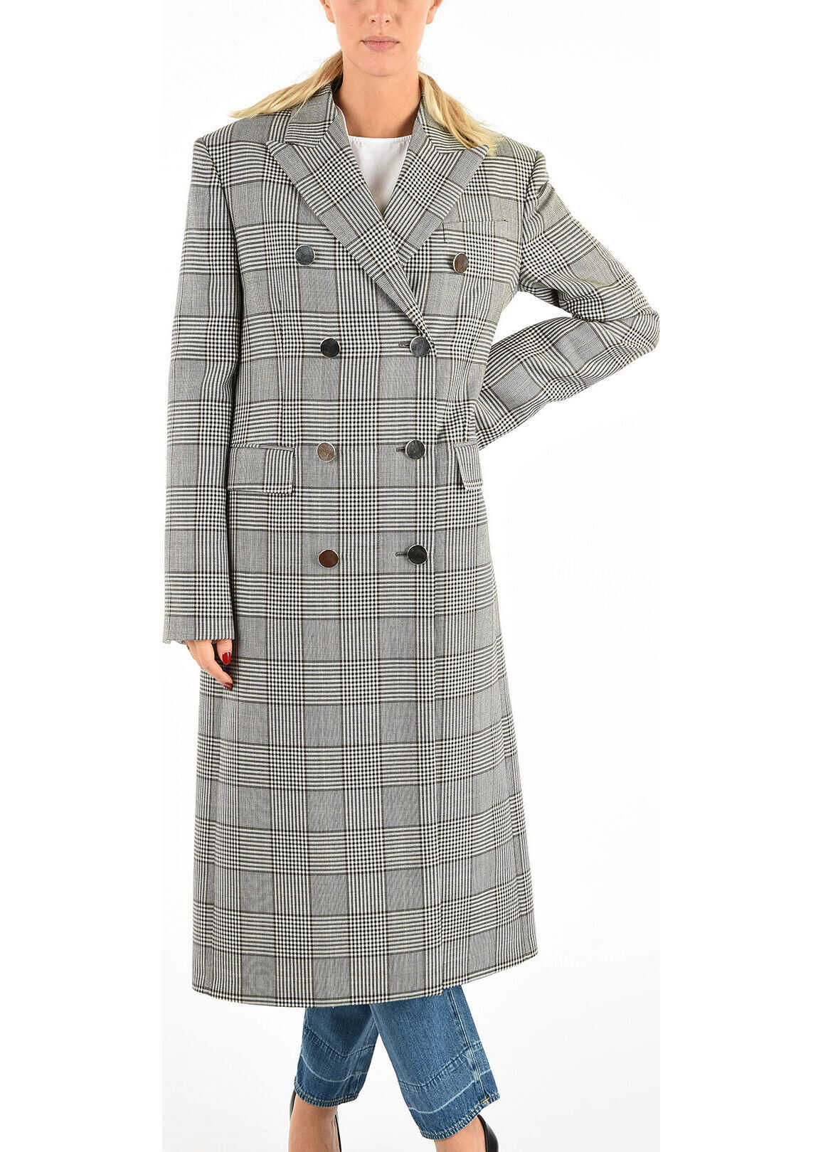 Calvin Klein 205W39NYC Checked Double Breast Coat MULTICOLOR