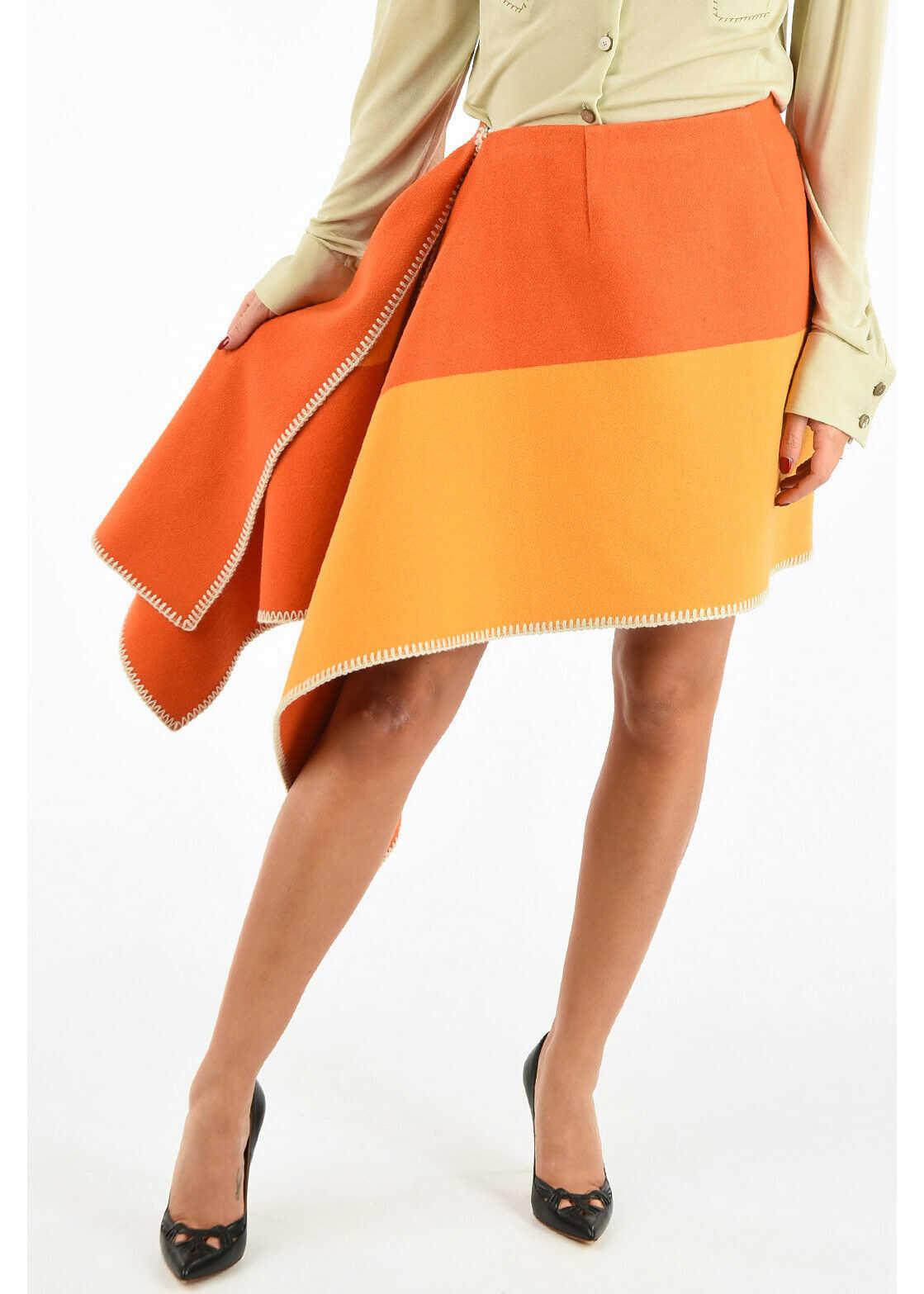 Calvin Klein 205W39NYC Asimmetric Skirt MULTICOLOR