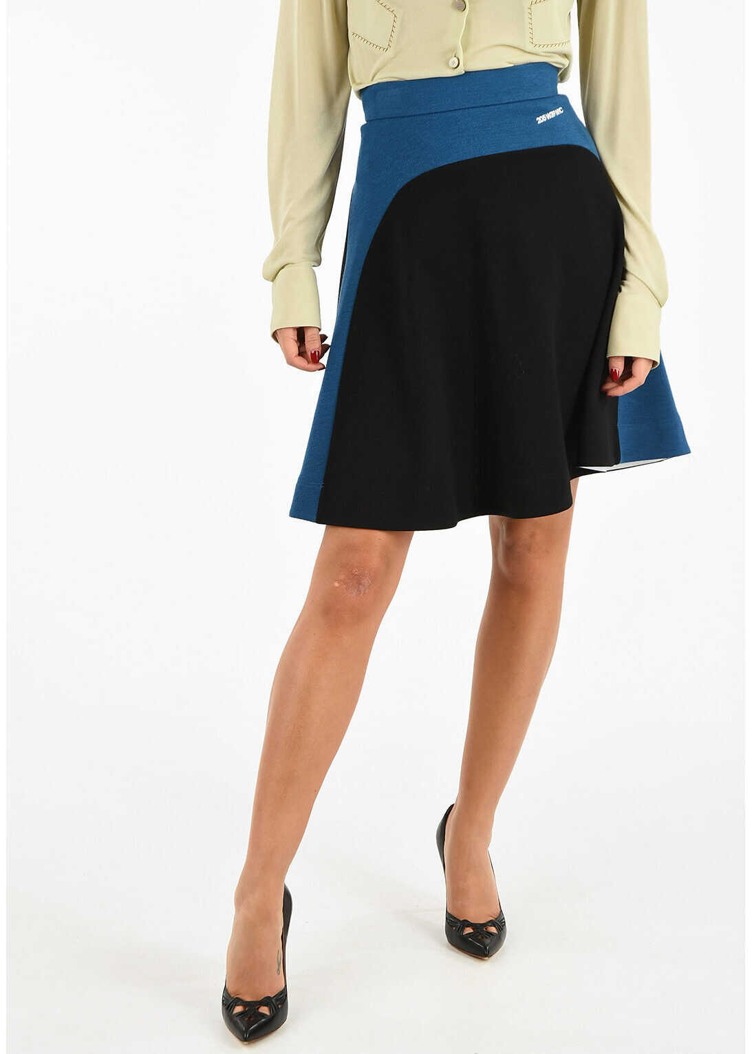 205W39NYC Virgin Wool Flared Skirt thumbnail