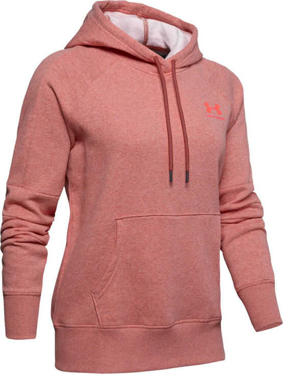 Under Armour Rival Fleece LC Logo Novelty Hoodie Pink