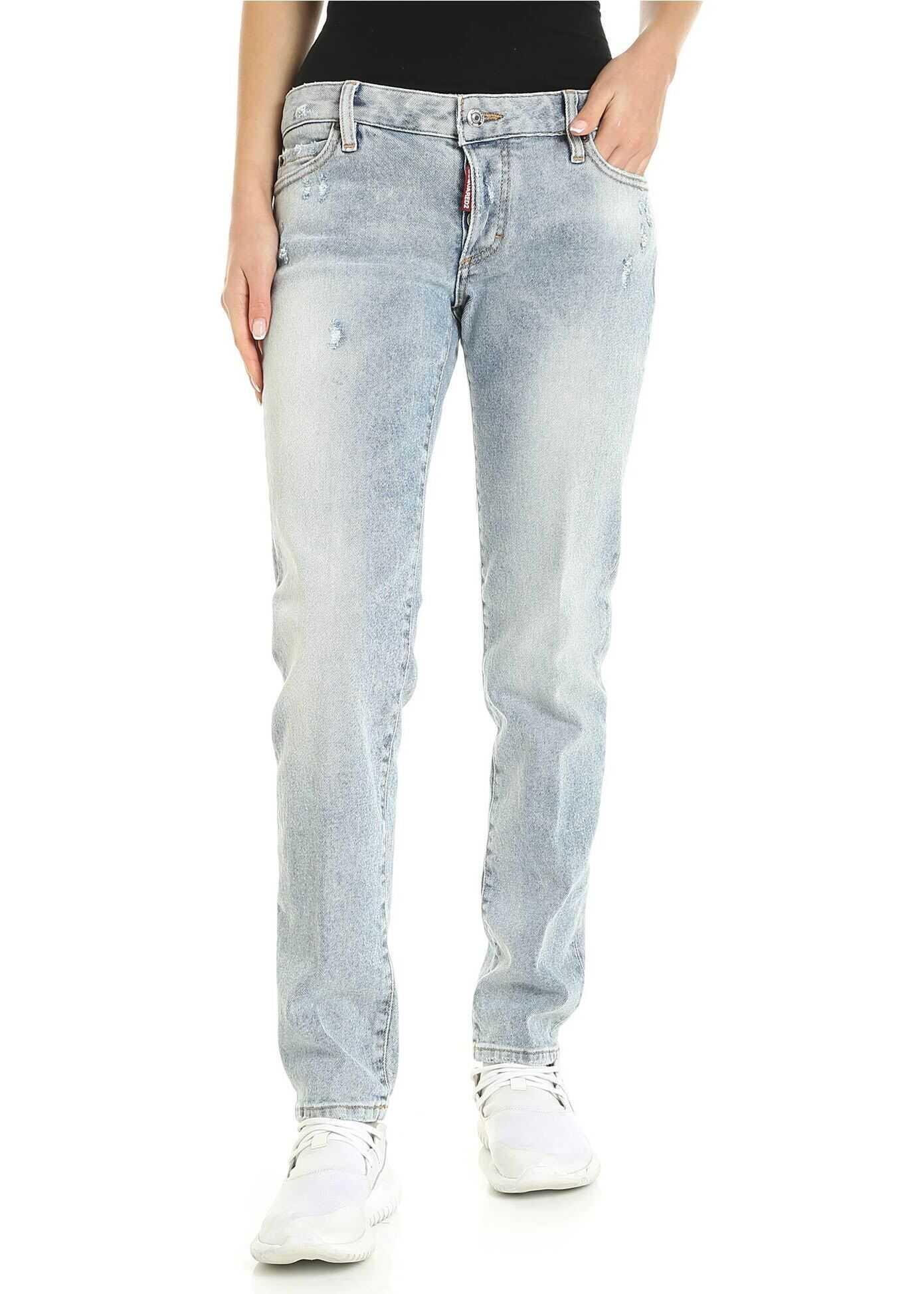 DSQUARED2 Jennifer Jeans In Light Blue Light Blue