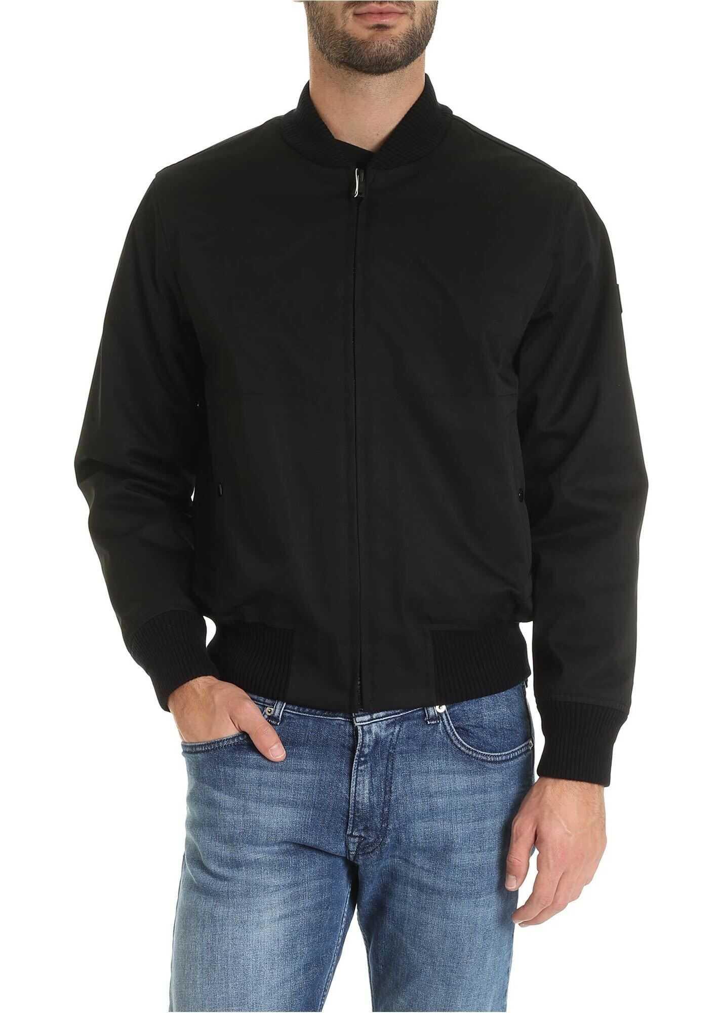 Wool Detail Reversible Jacket In Black thumbnail