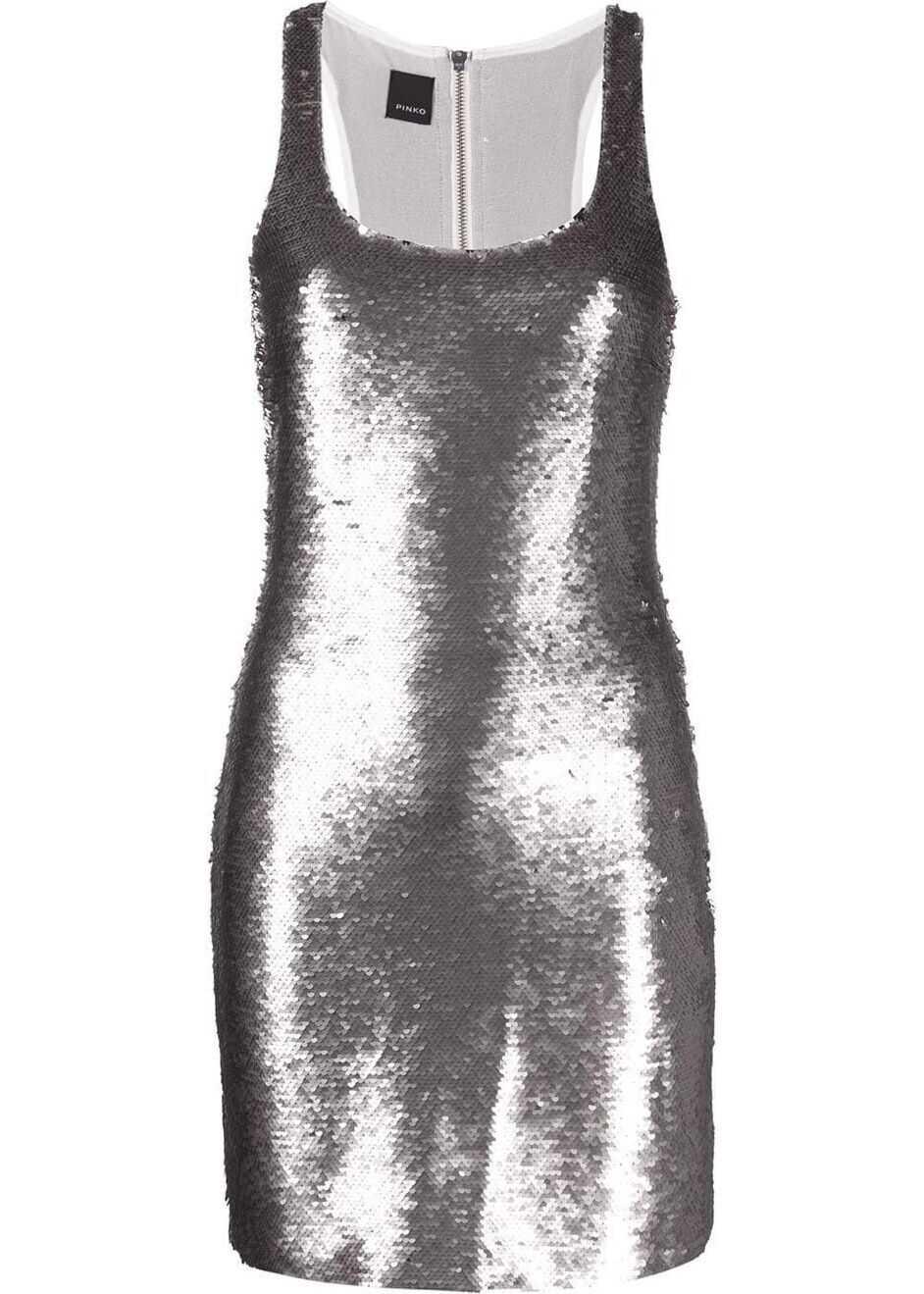 Pinko Viscose Dress SILVER