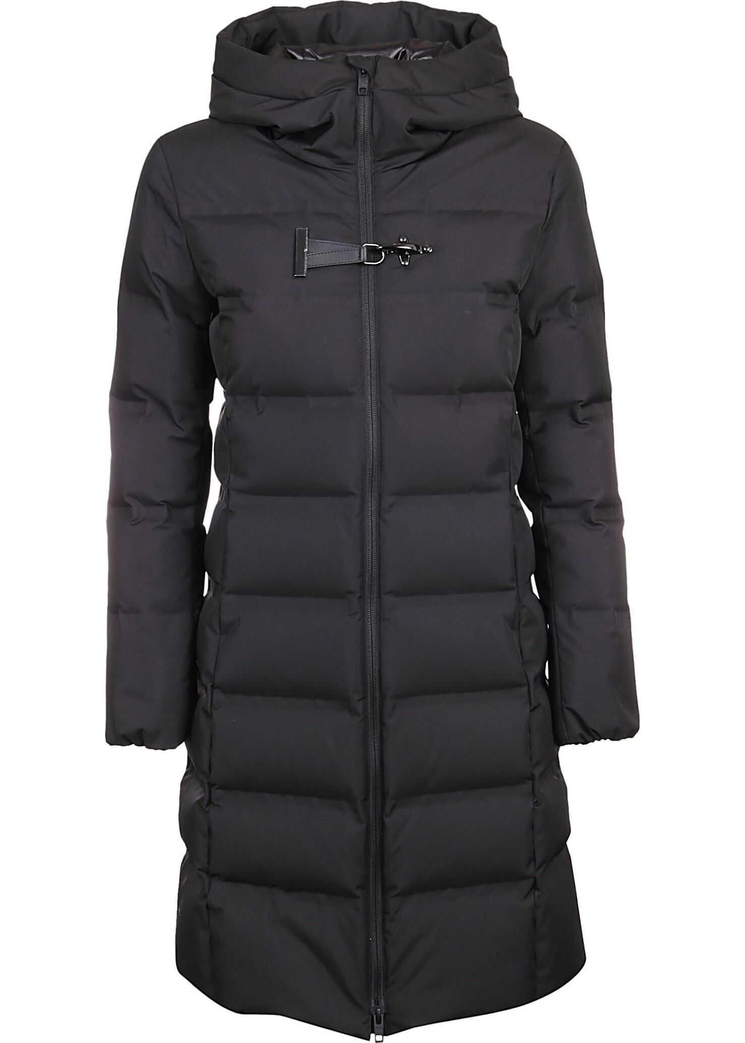 Fay Polyester Coat BLACK
