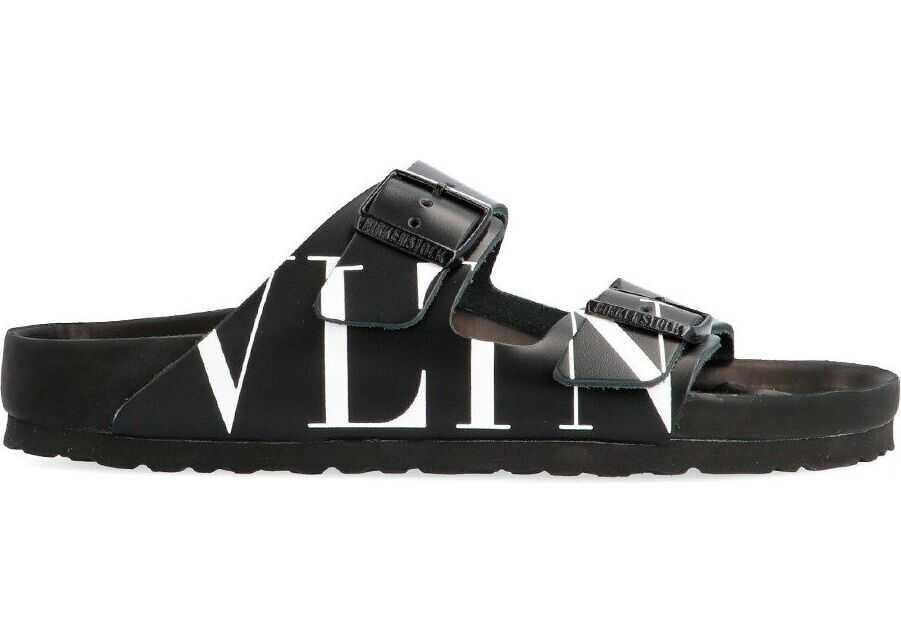 Valentino Garavani Leather Sandals BLACK