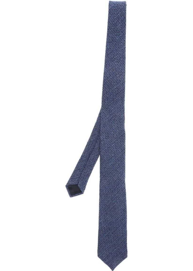 Z Zegna Wool Tie BLUE