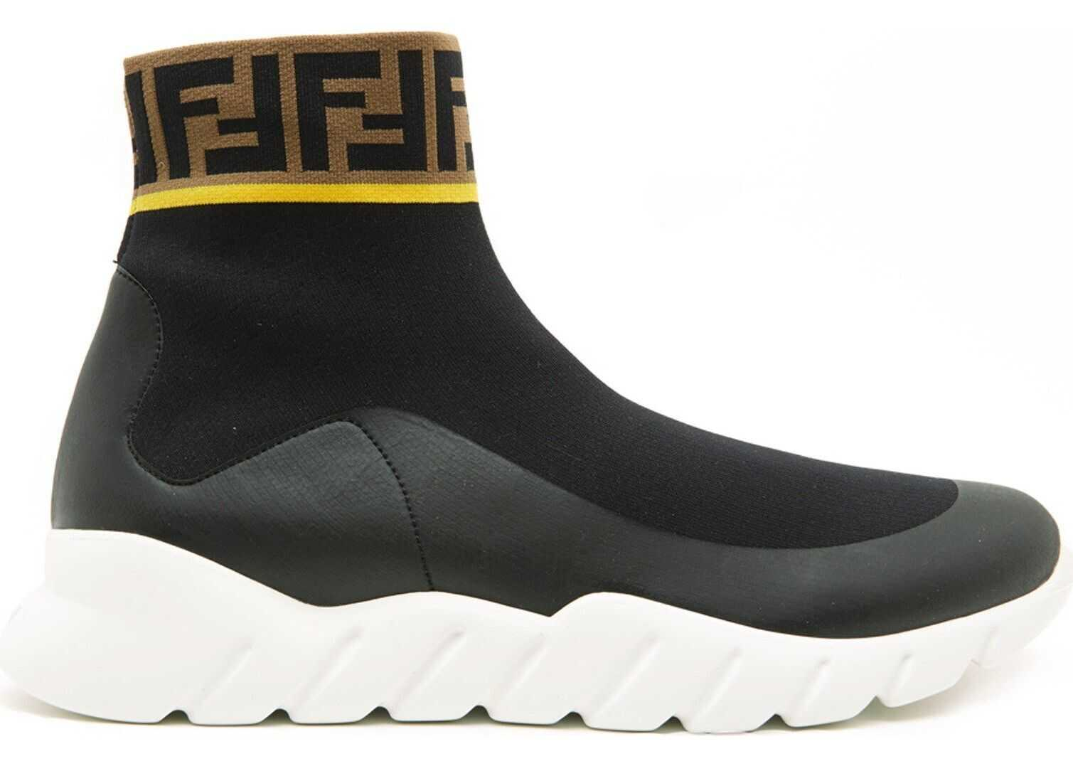 Fendi Fabric Hi Top Sneakers thumbnail