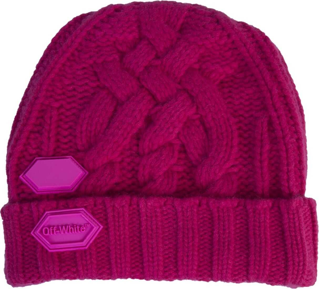 Off-White Knitted Hat FUCHSIA