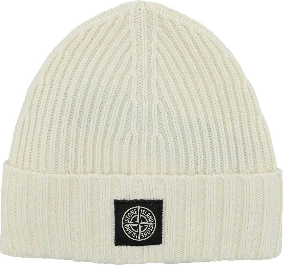 Logo Patch Beanie In Ivory Color thumbnail